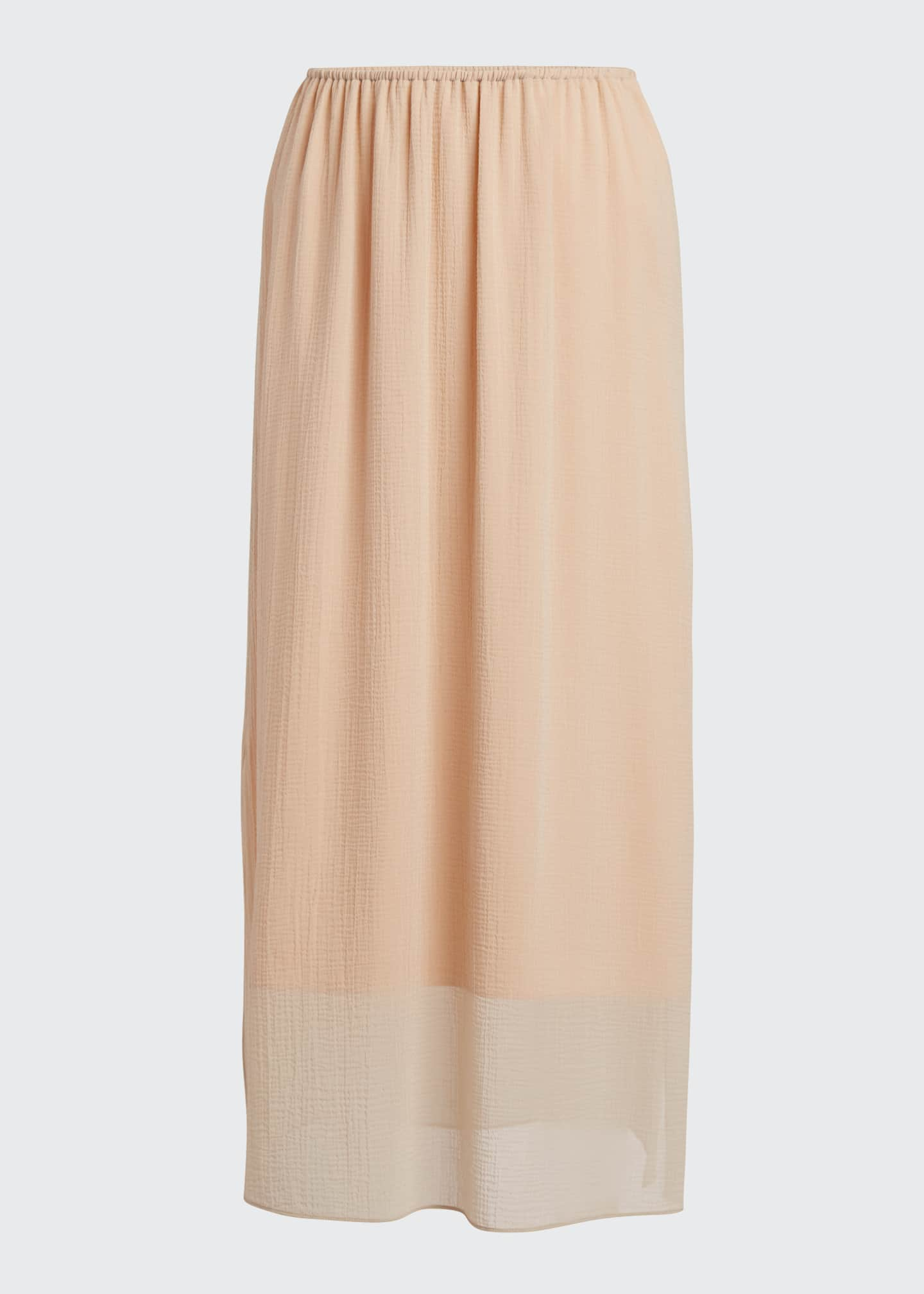 Image 5 of 5: Textured Double-Layer Midi Skirt