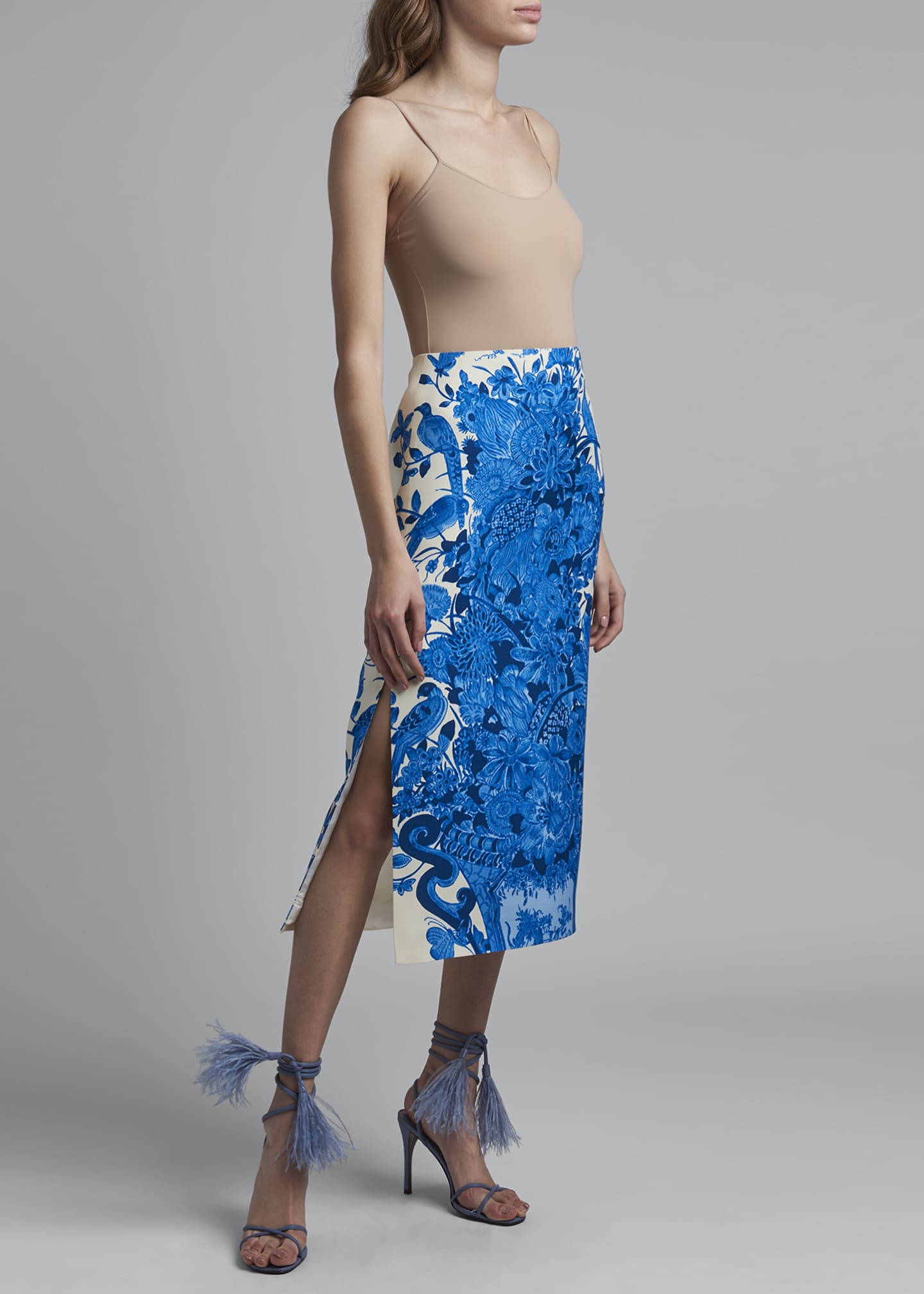 Image 1 of 2: High-Rise Bodycon Skirt
