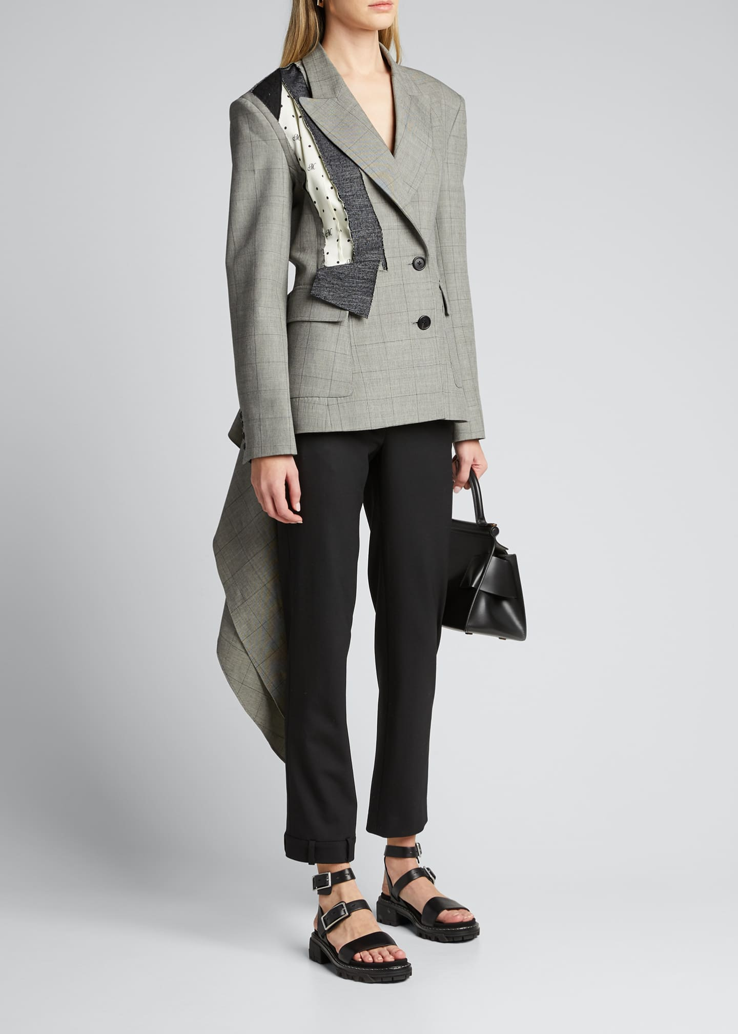 Image 1 of 5: Dotted Plaid Deconstructed Jacket