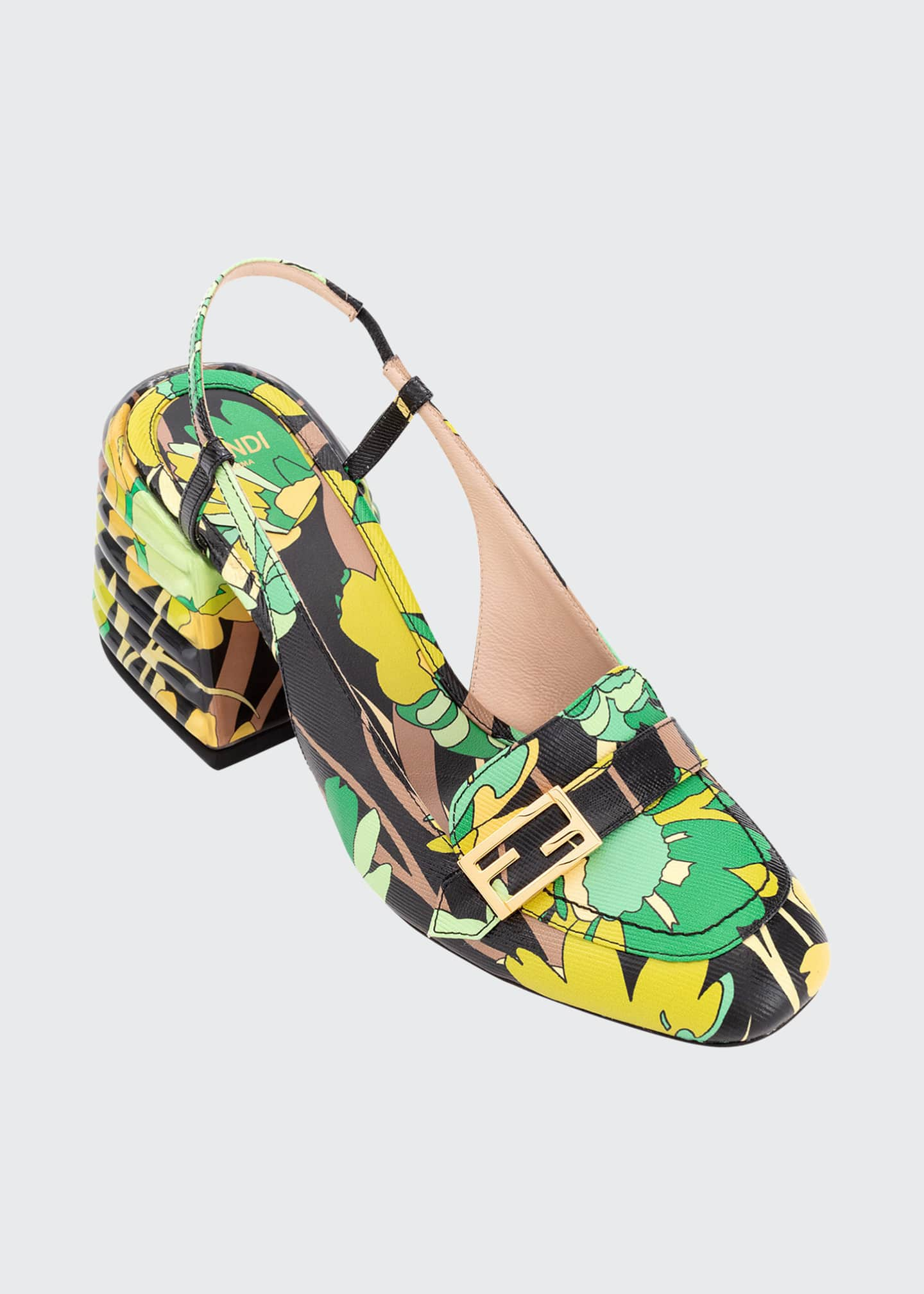 Image 4 of 4: Promenade 65mm Floral Loafer Pumps