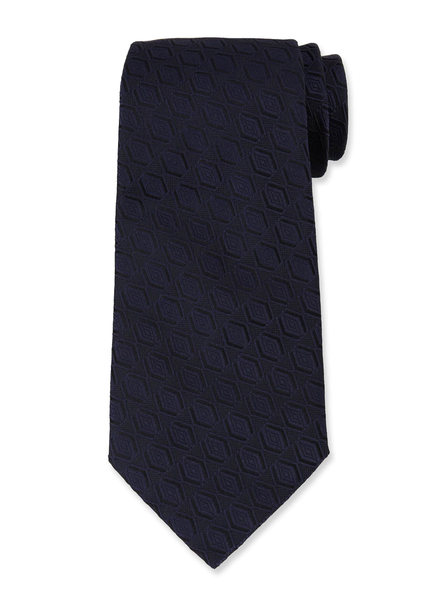 Men's Tonal Diamond Silk Tie