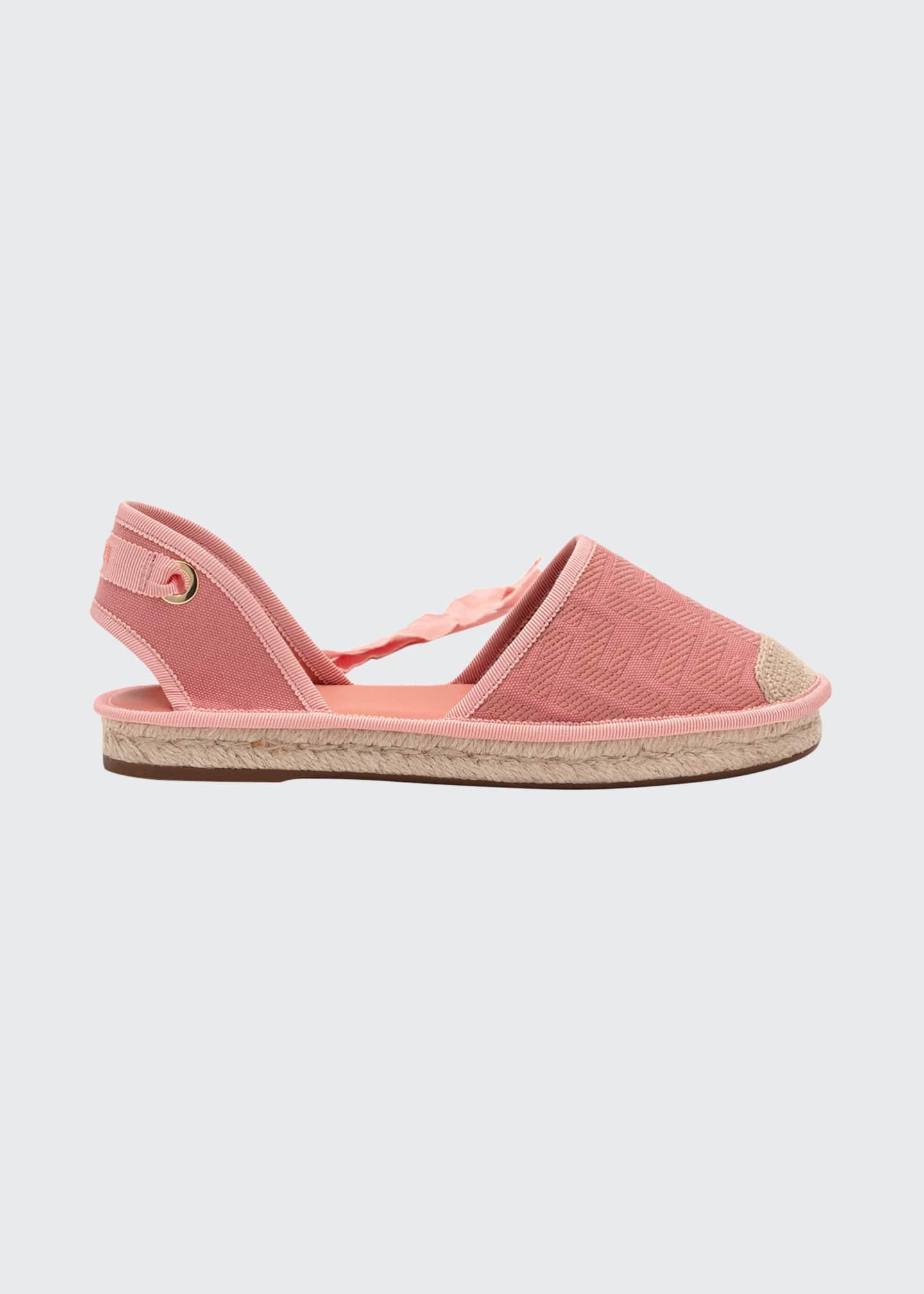 Fendi Roam Ankle-Tie Flat Espadrilles