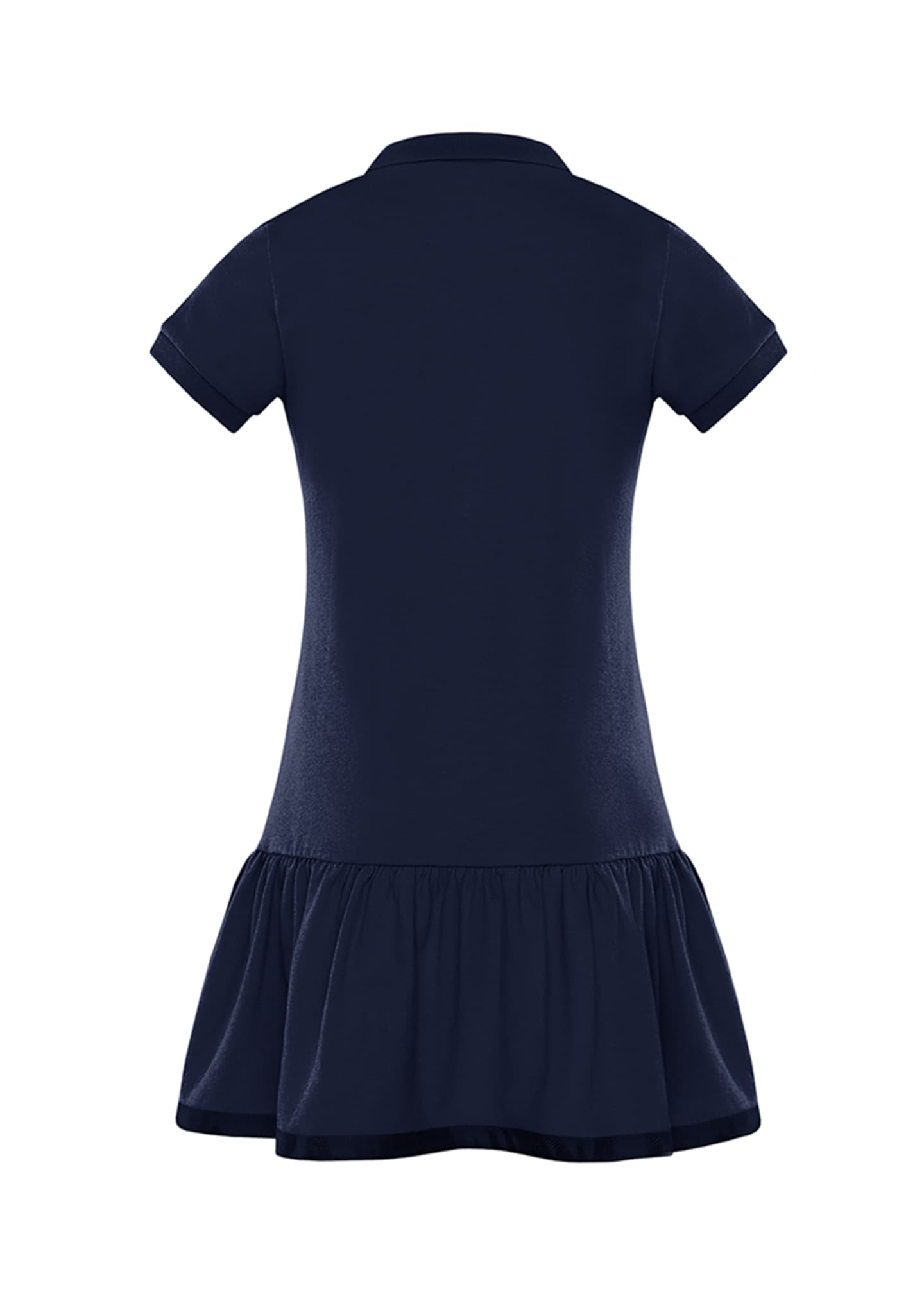 Image 2 of 2: Girl's Piquet Stretch Polo Dress, Size 8-14