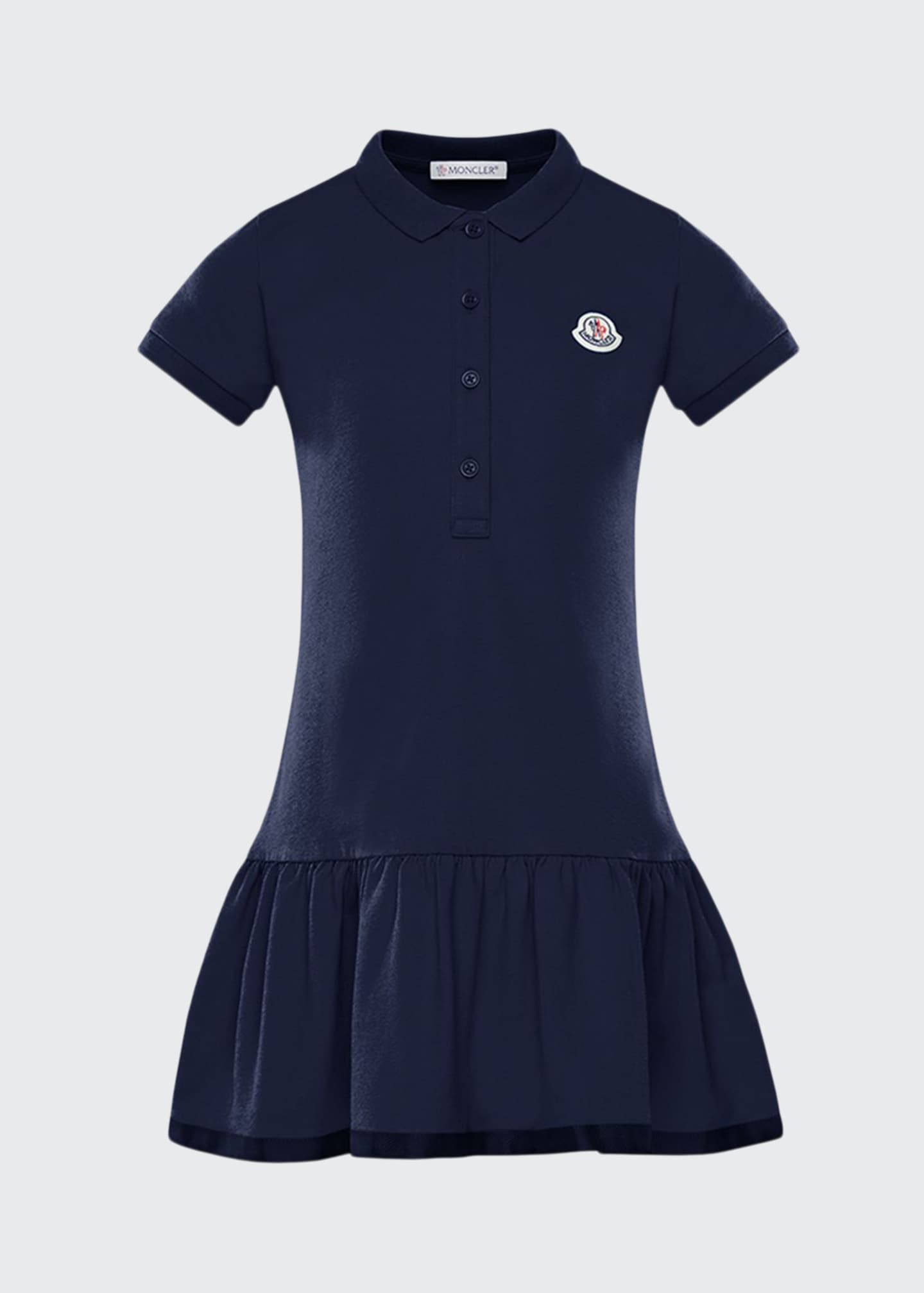Image 1 of 2: Girl's Piquet Stretch Polo Dress, Size 8-14