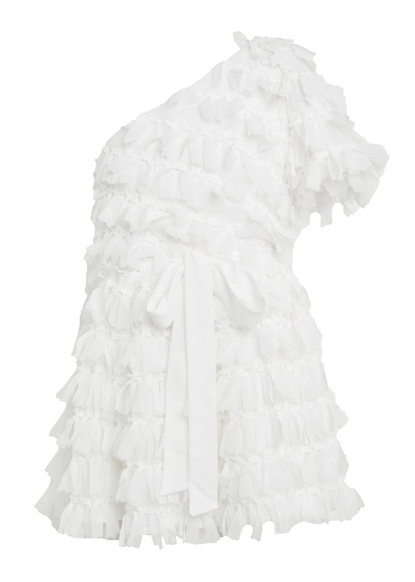 Image 1 of 3: Girl's Gretta One-Shoulder Frill Dress, Size 7-16