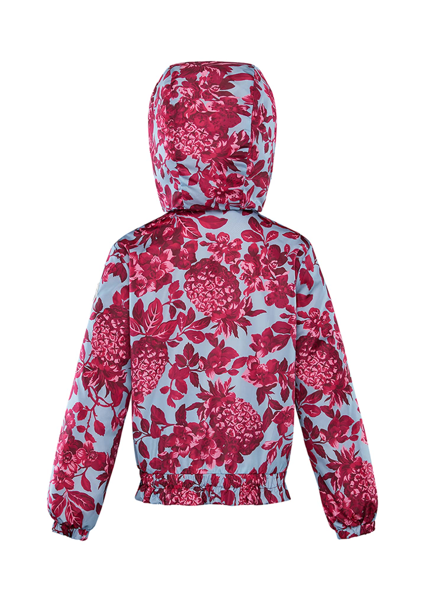Image 2 of 2: Girl's Pineapple Print Technique Jacket, Size 8-14