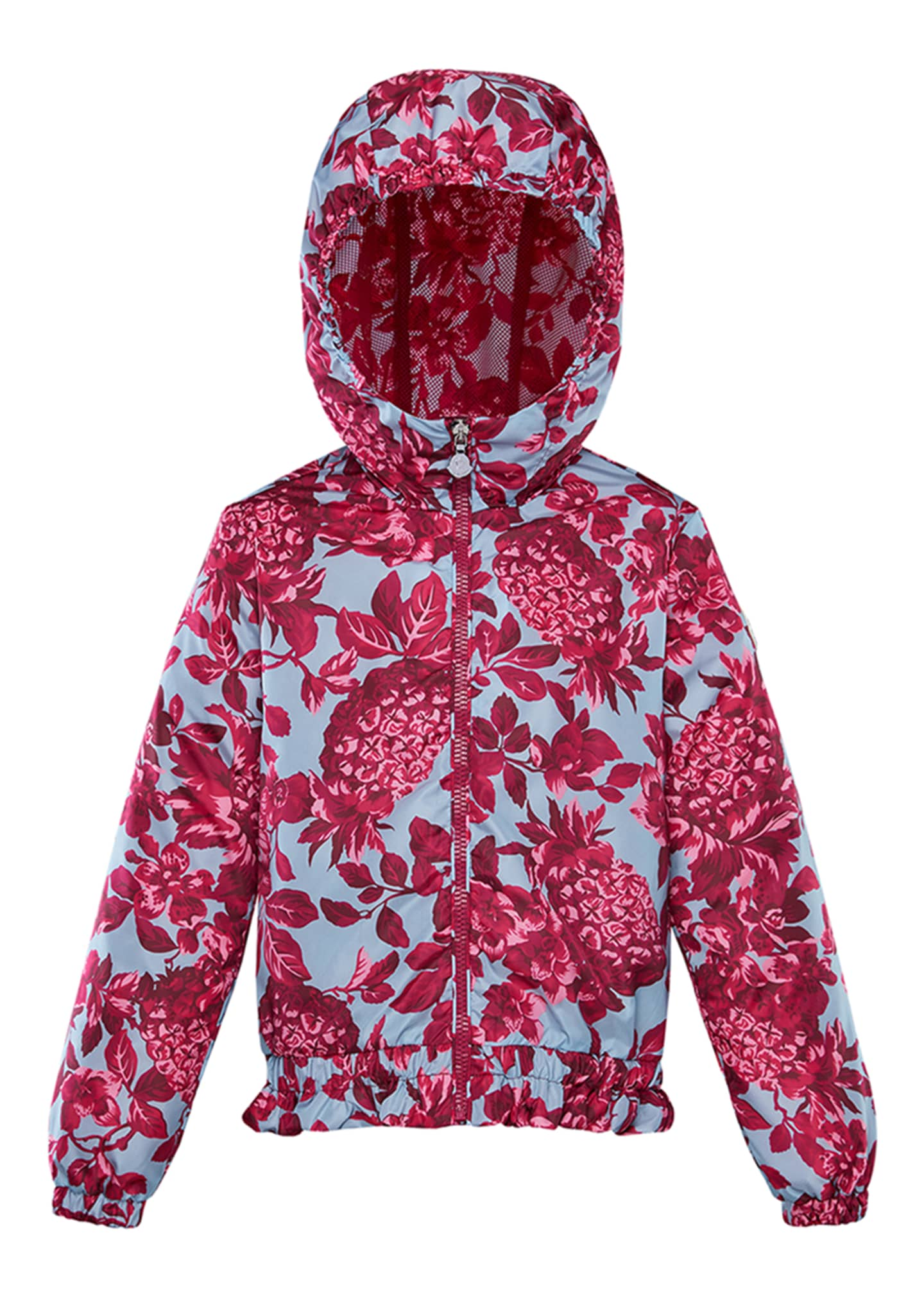 Image 1 of 2: Girl's Pineapple Print Technique Jacket, Size 8-14