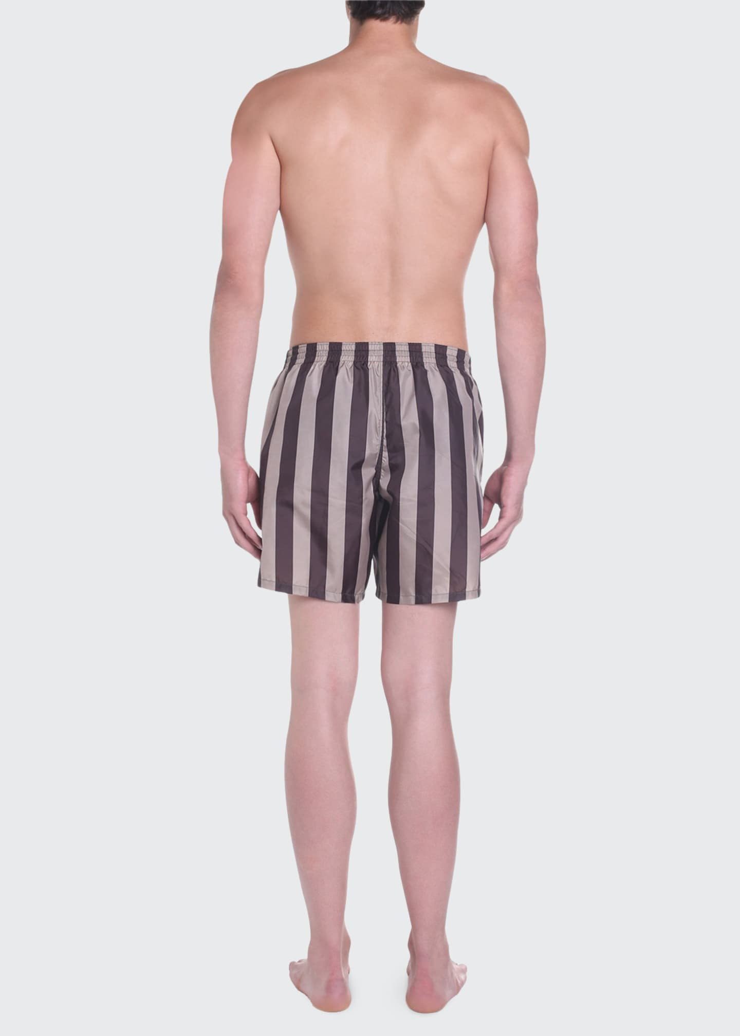 Image 2 of 4: Men's Pequin Stripe Swim Trunks
