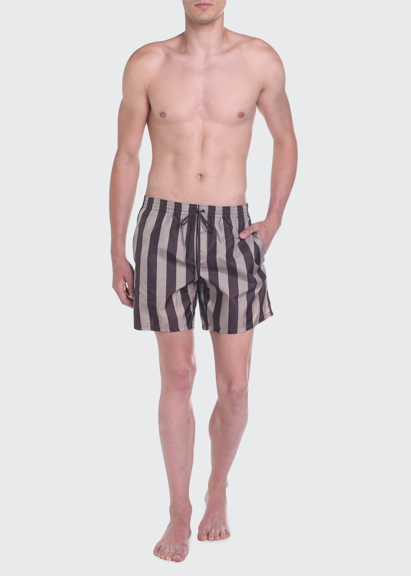 Image 3 of 4: Men's Pequin Stripe Swim Trunks