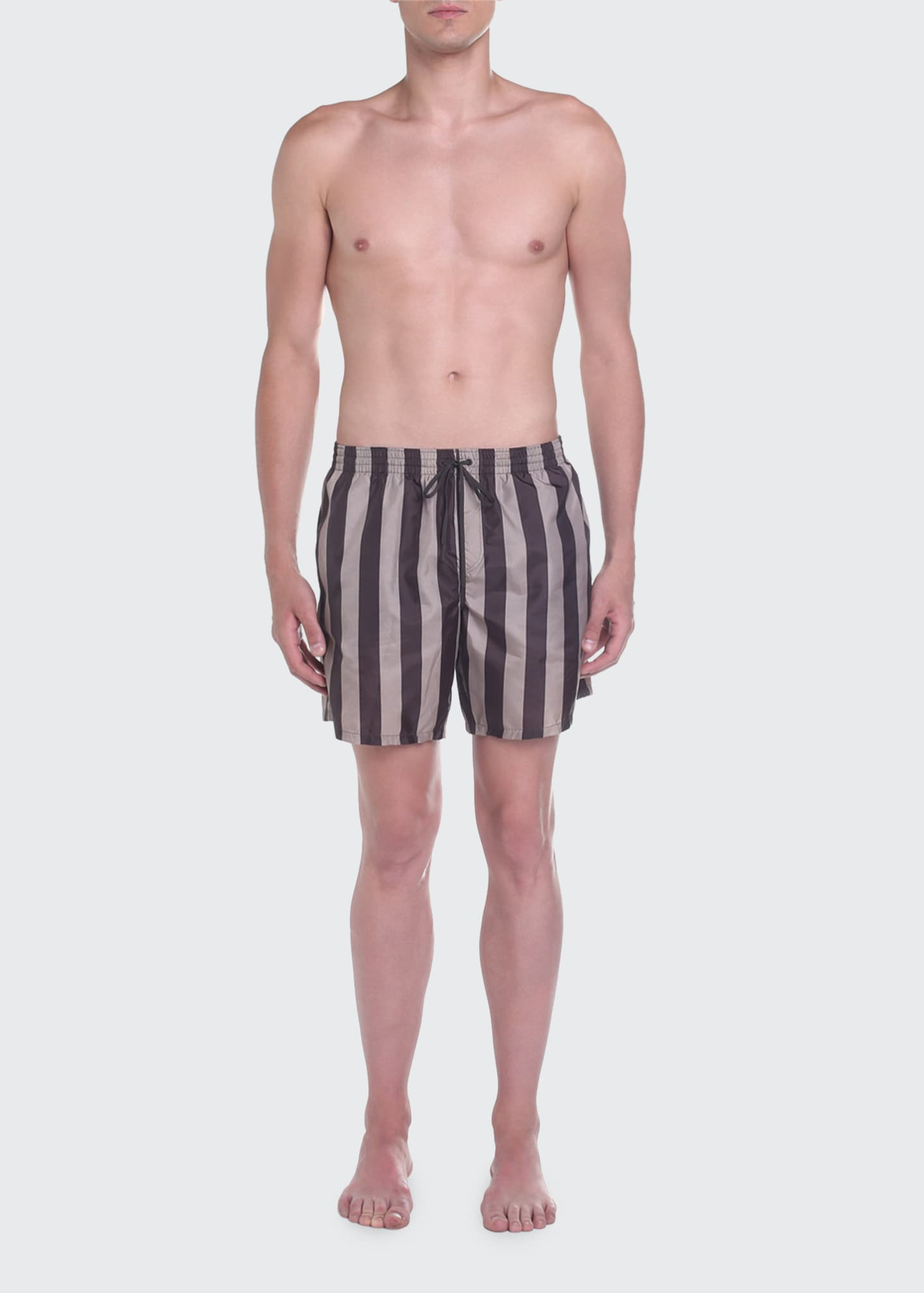 Image 1 of 4: Men's Pequin Stripe Swim Trunks