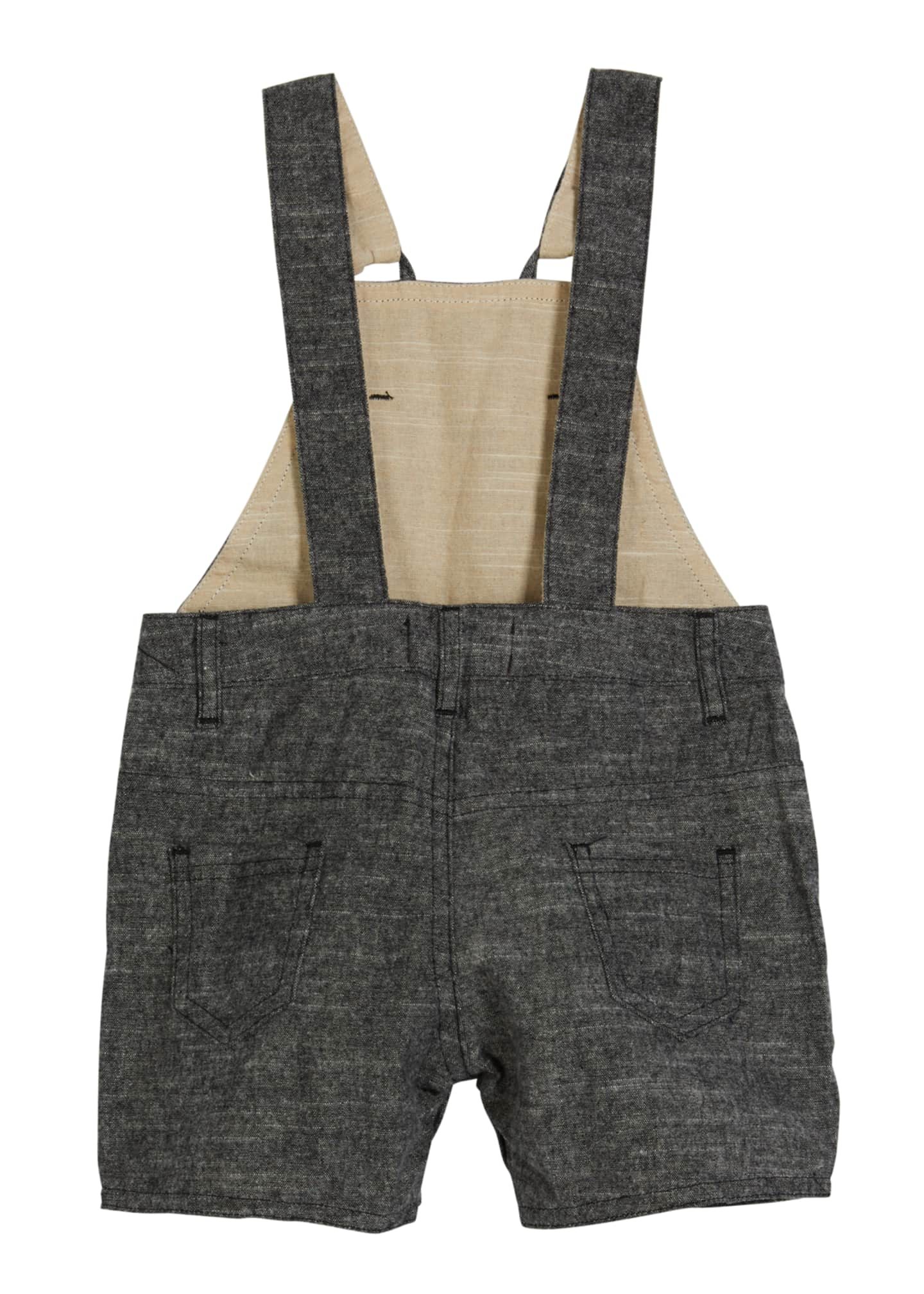 Image 2 of 2: Boy's Woven Cotton Overalls w/ Children's Book, Size 6-24 Months