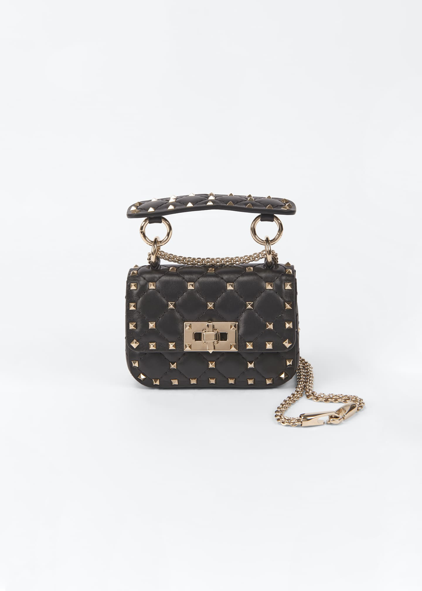 Image 1 of 5: Spike Micro Rockstud Shoulder Bag
