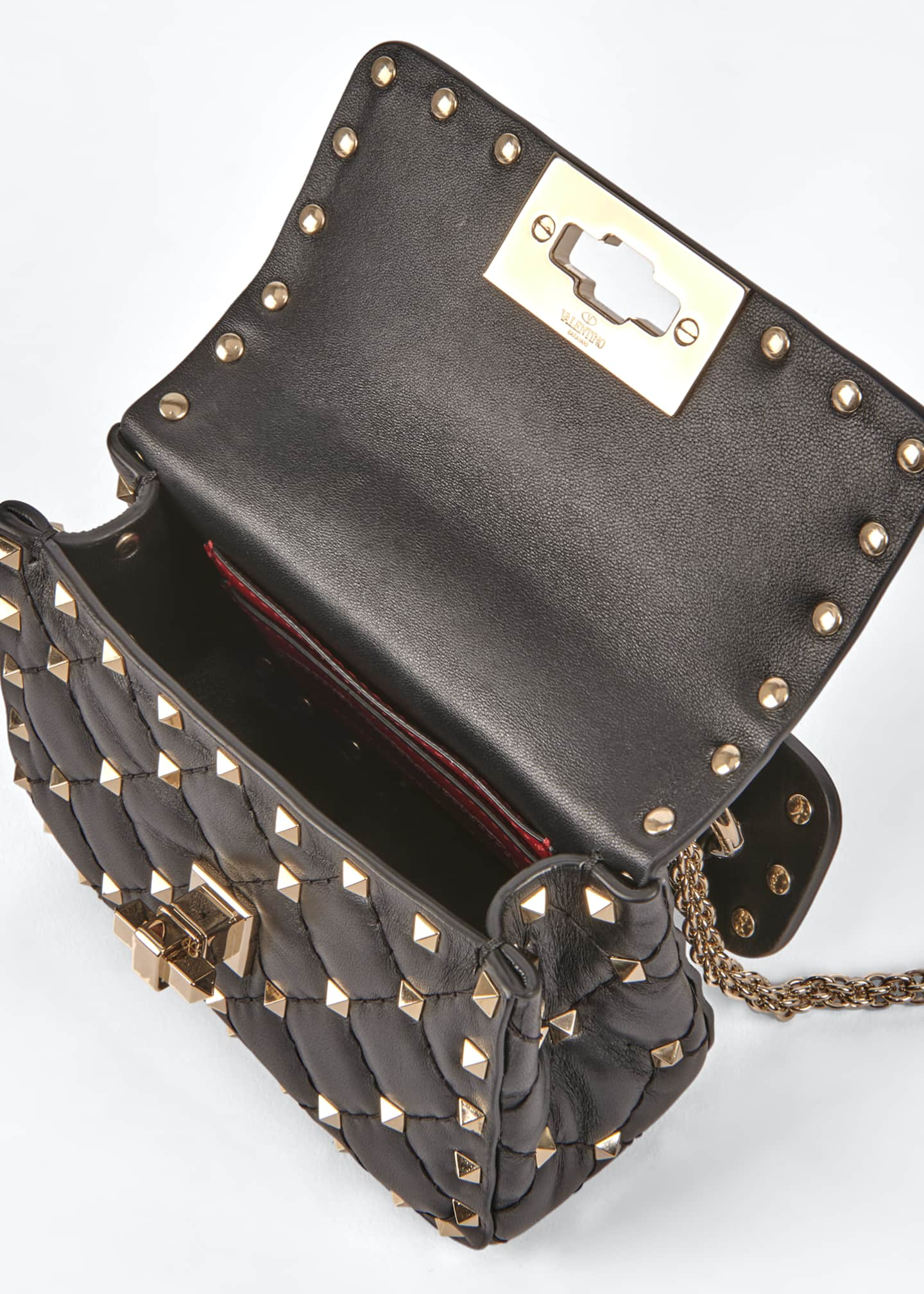 Image 2 of 5: Spike Micro Rockstud Shoulder Bag