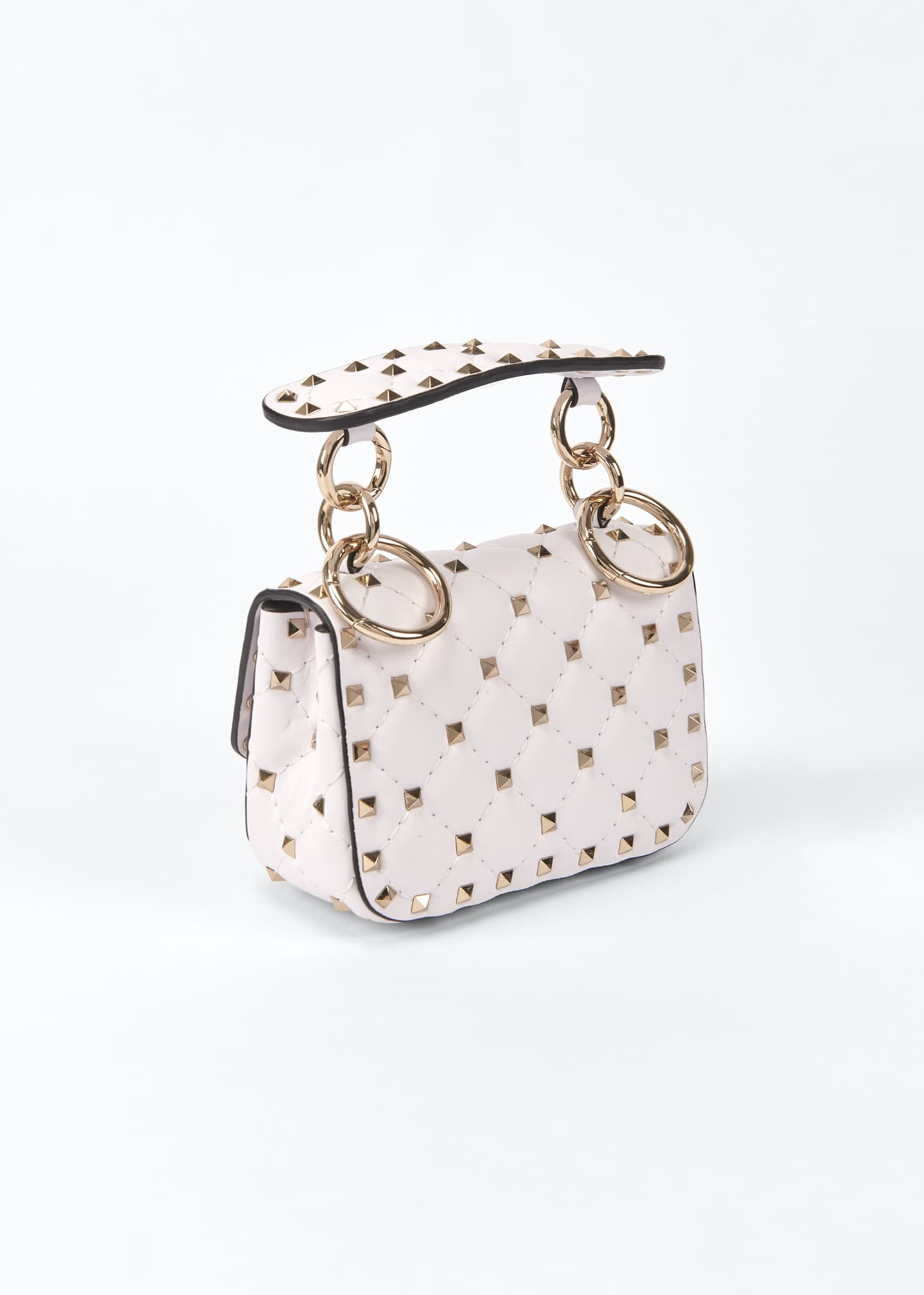Image 3 of 5: Spike Micro Rockstud Shoulder Bag