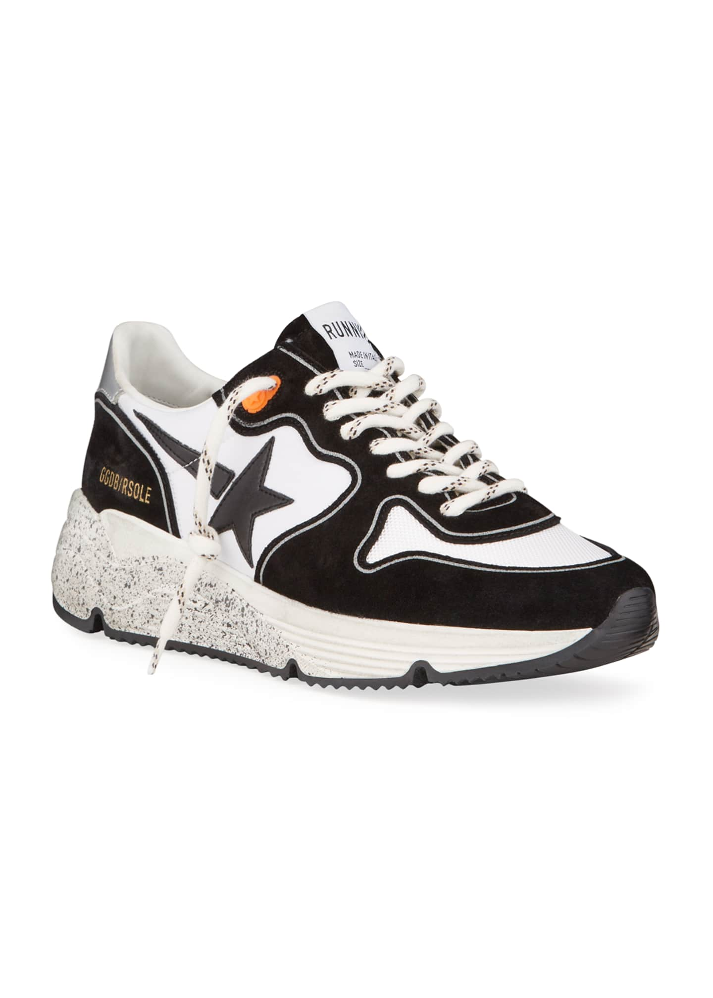 Image 2 of 4: Men's Two-Tone Speckled Star Runner Sneakers