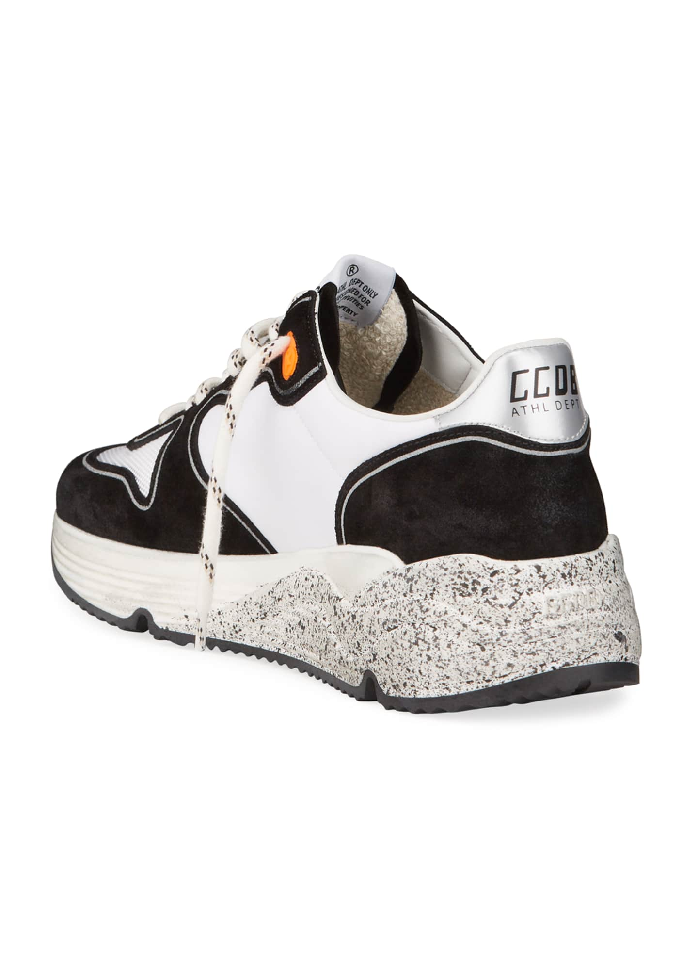 Image 4 of 4: Men's Two-Tone Speckled Star Runner Sneakers