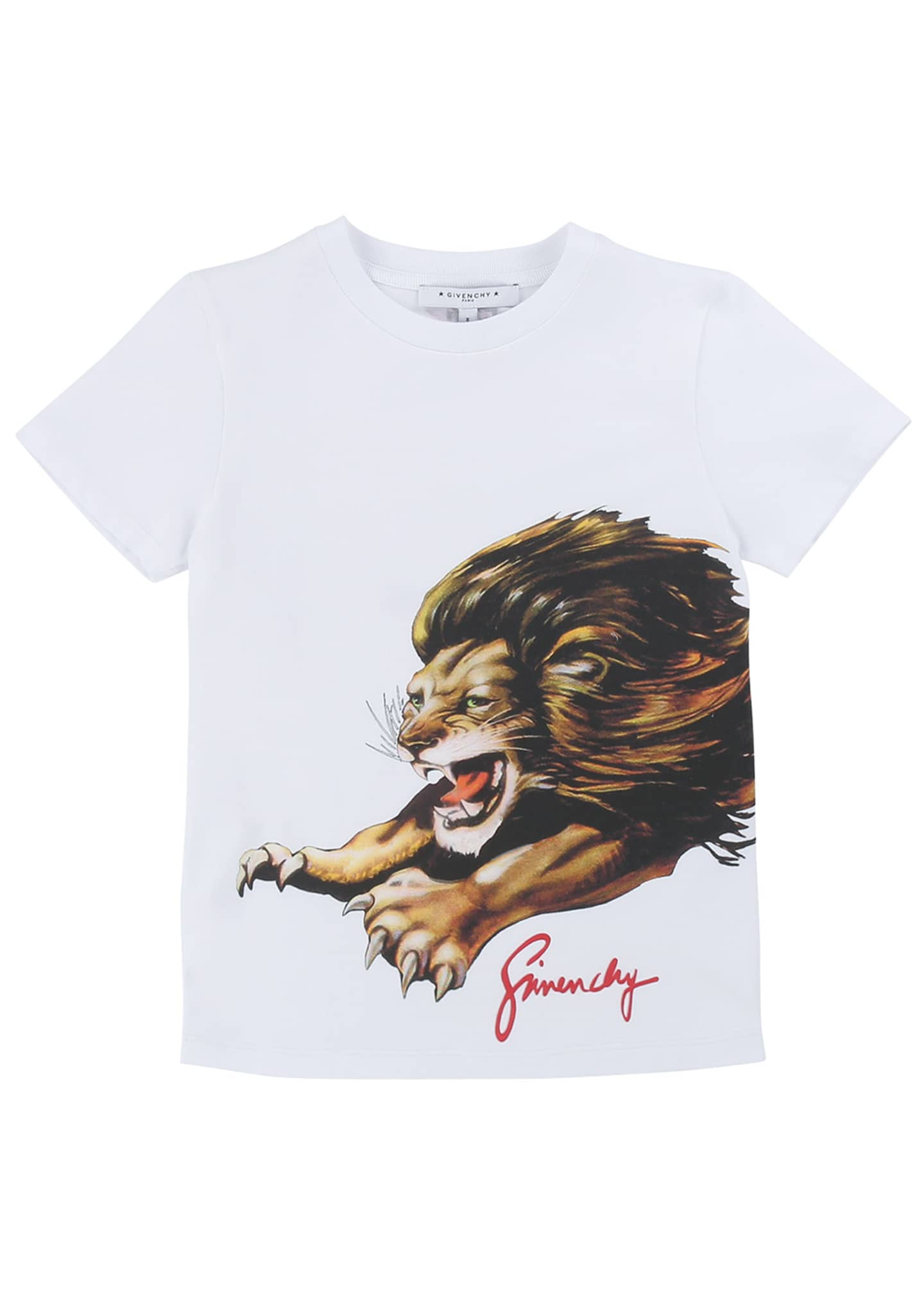 Image 1 of 2: Boy's Lion Graphic Mini Me T-Shirt, Size 12-14
