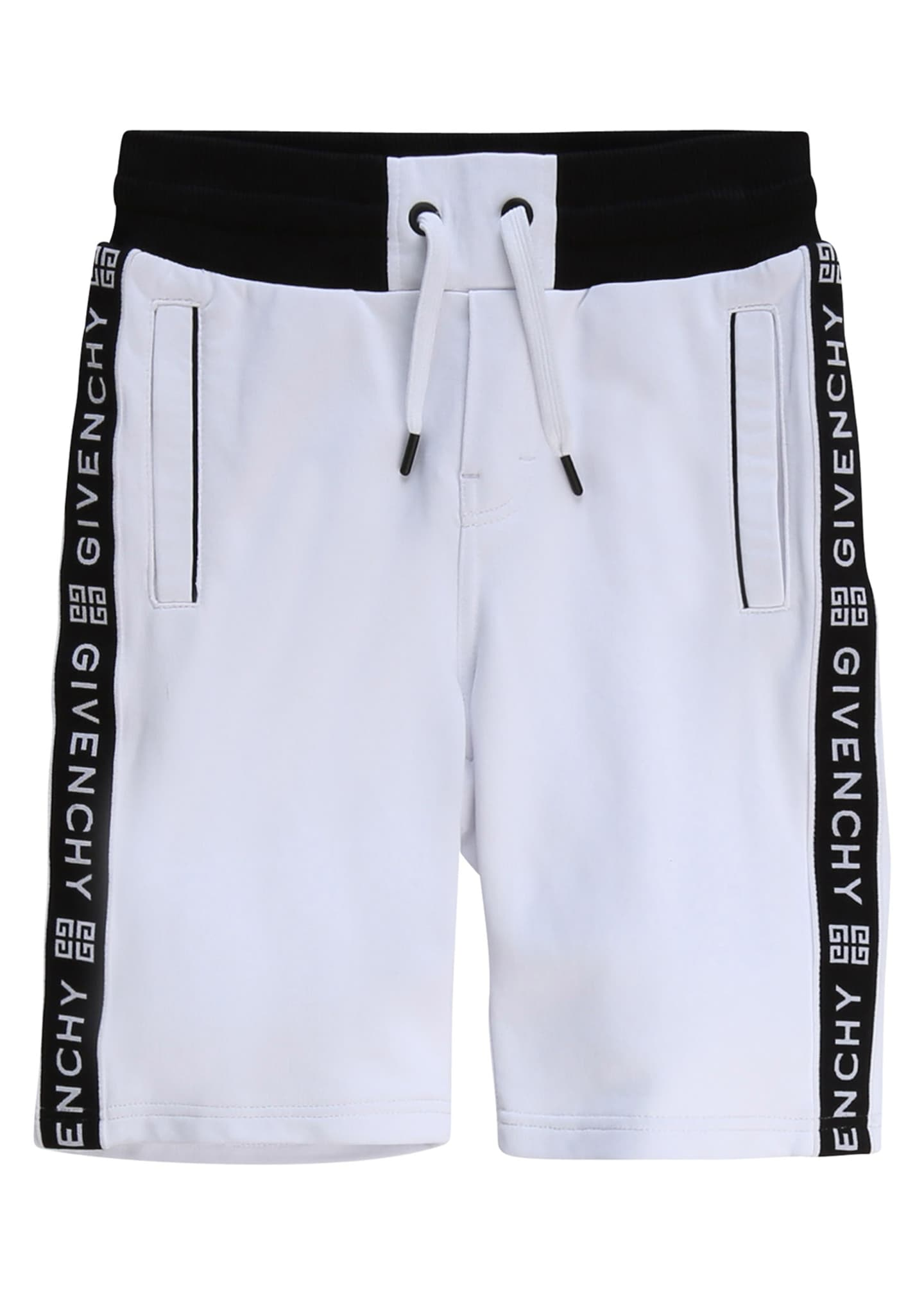 Image 1 of 1: Boy's Logo Taping Drawstring Shorts, Size 6-10