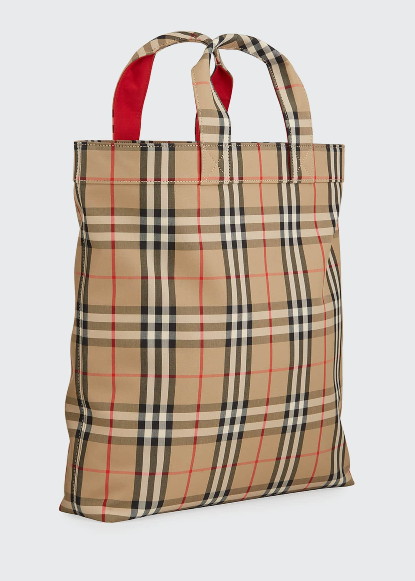 Image 2 of 3: Men's Vintage Check Logo Tote Bag