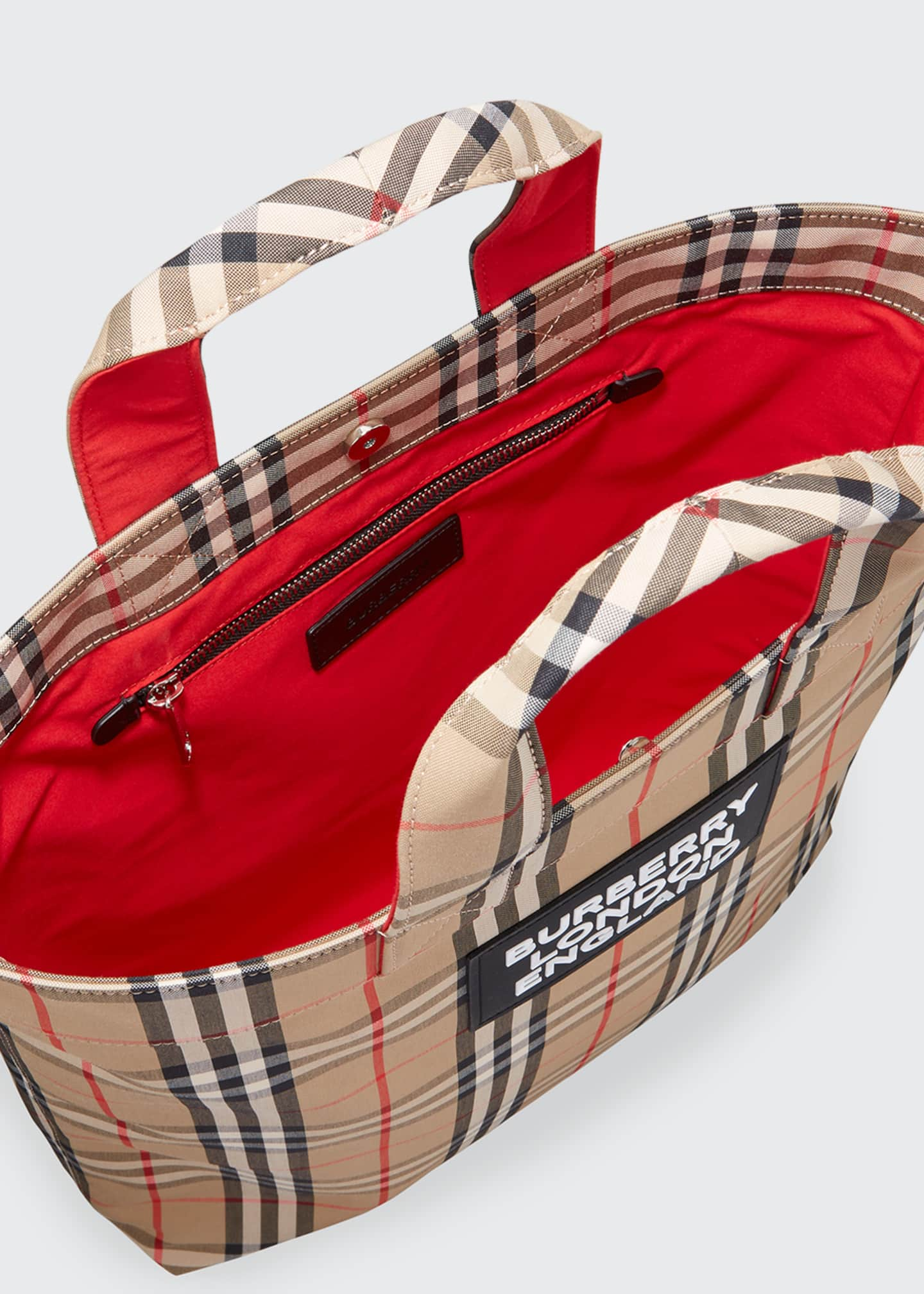 Image 3 of 3: Men's Vintage Check Logo Tote Bag
