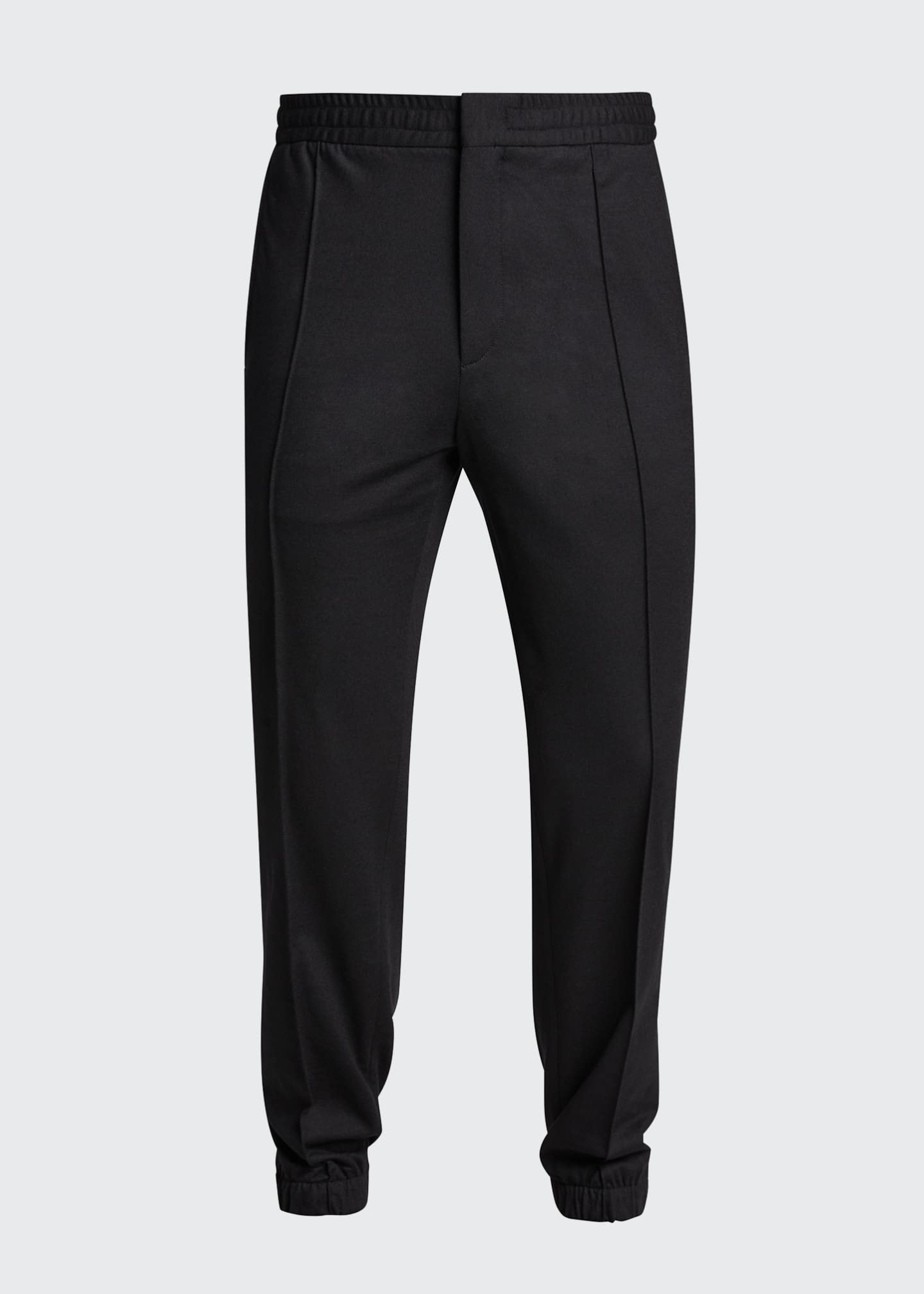 Image 5 of 5: Men's Solid Wool Jogger Trousers