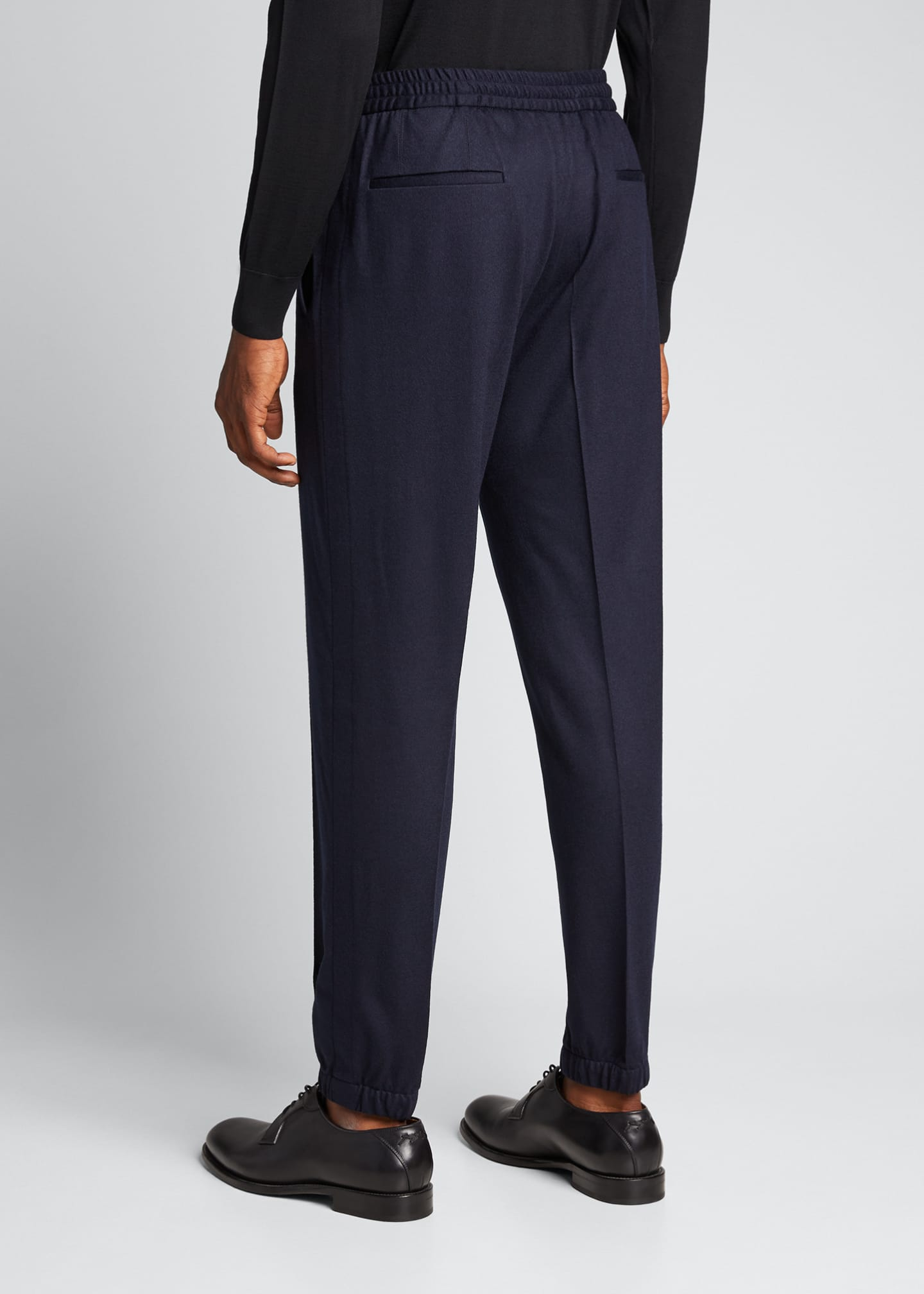 Image 2 of 5: Men's Solid Wool Jogger Trousers