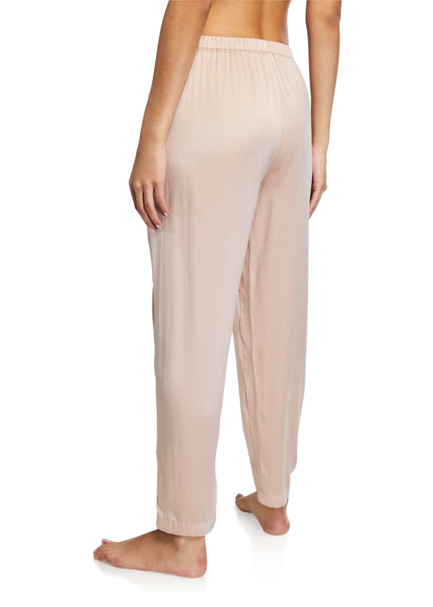 Image 2 of 3: Tawny Silk Stretch Lounge Pants