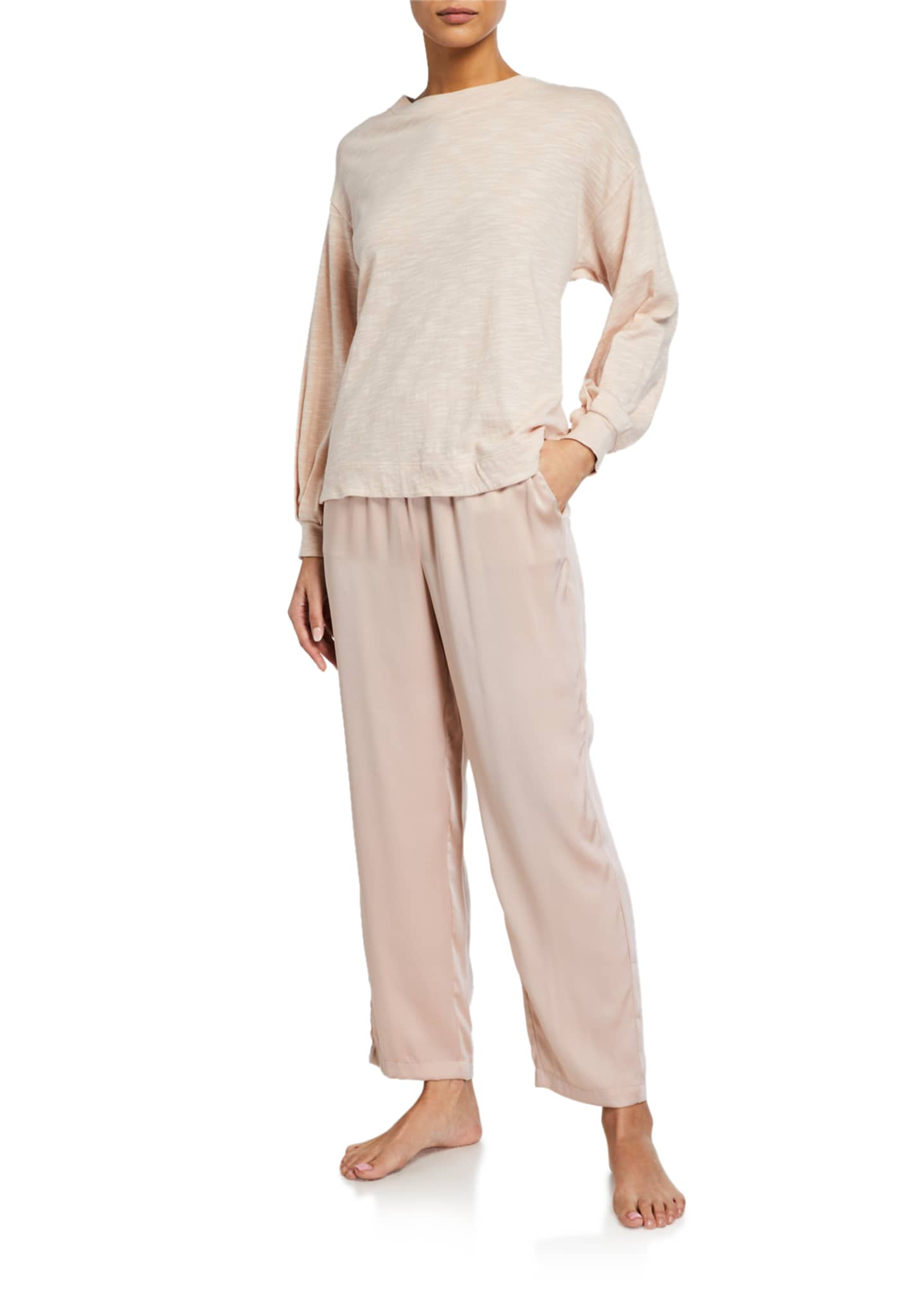 Image 3 of 3: Tawny Silk Stretch Lounge Pants