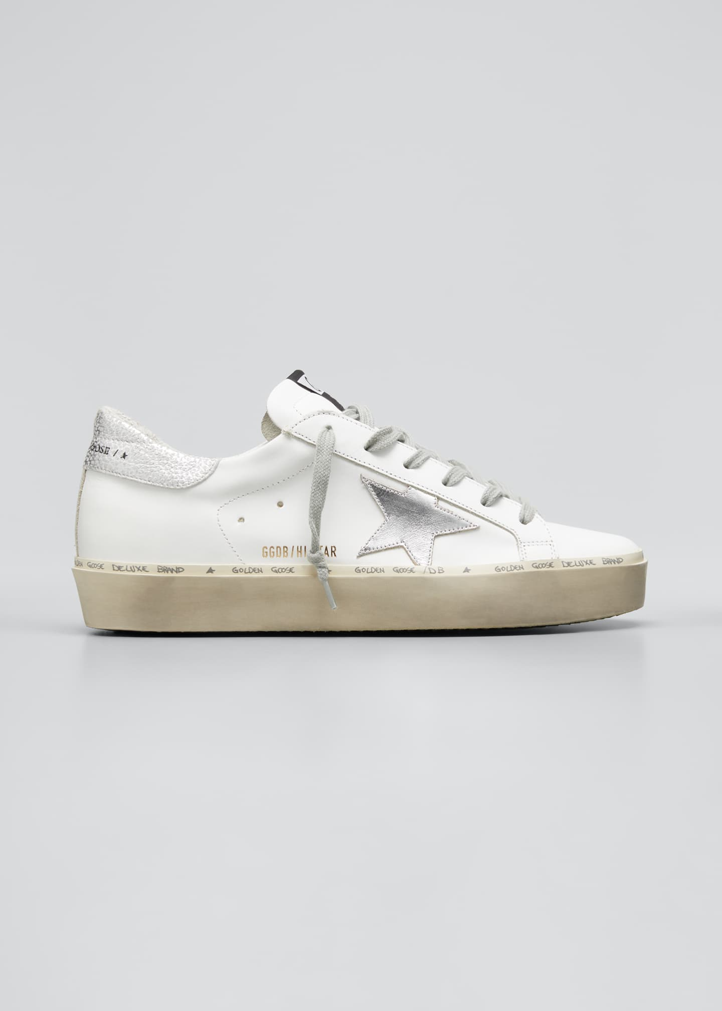 Hi Star Metallic Leather Low-Top Sneakers