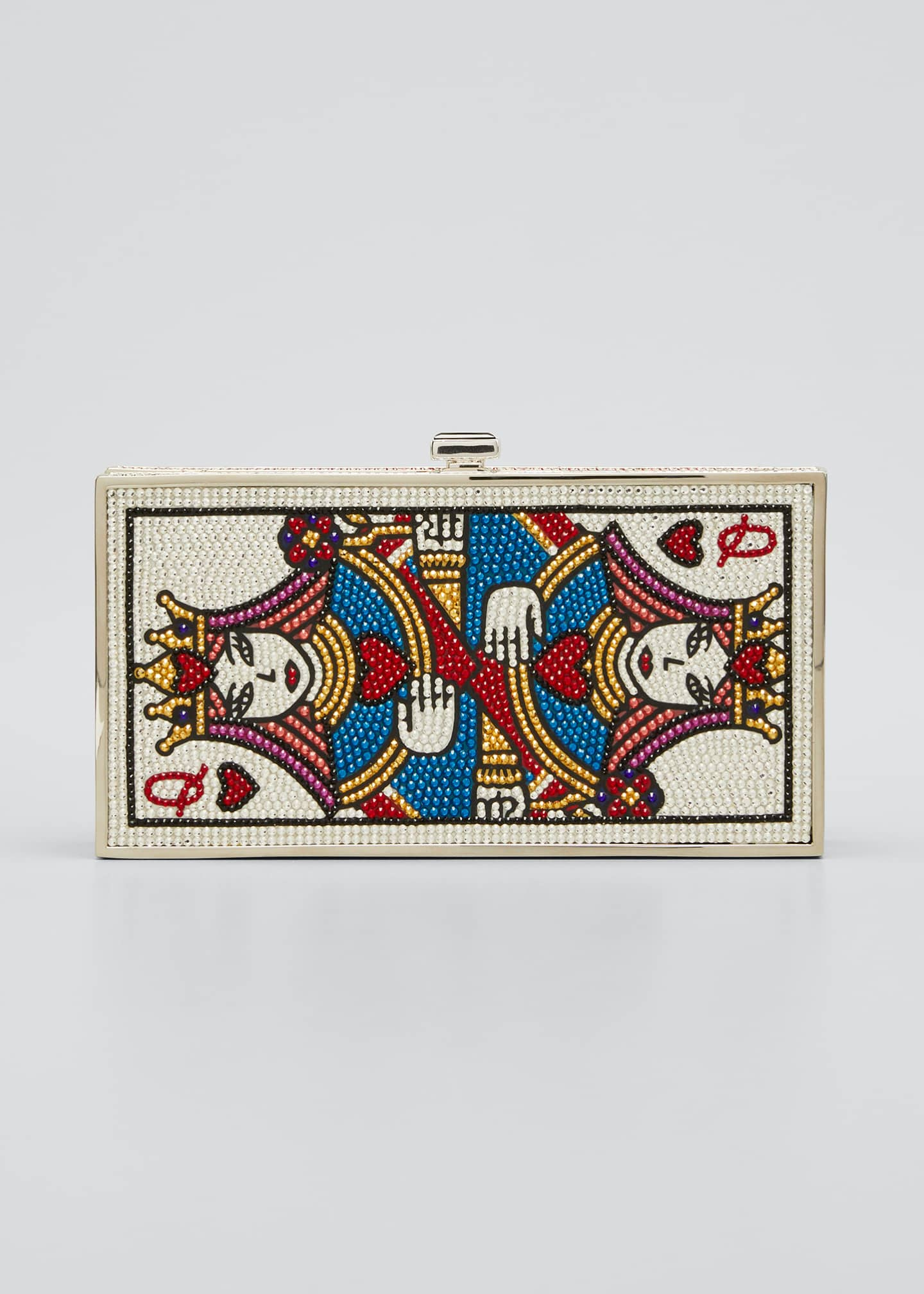 JUDITH LEIBER COUTURE Queen Of Hearts Box Clutch Bag
