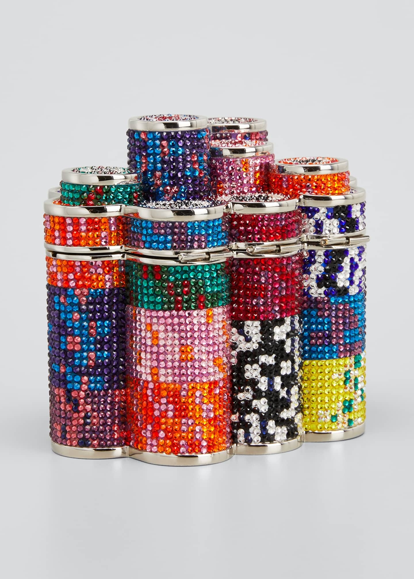 Image 3 of 5: Coins Stack Poker Chips Clutch Minaudiere