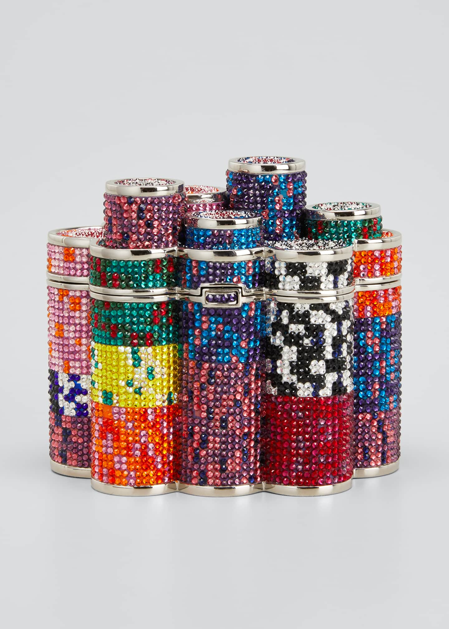 Image 1 of 5: Coins Stack Poker Chips Clutch Minaudiere