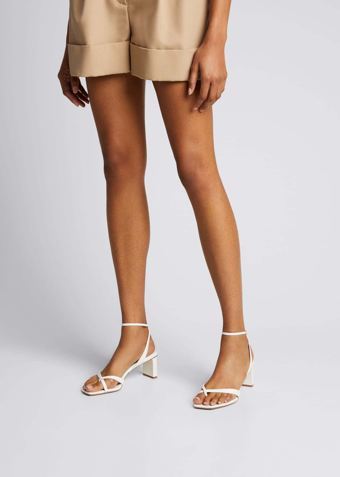 Image 2 of 4: Nelly Crisscross Square-Toe Sandals