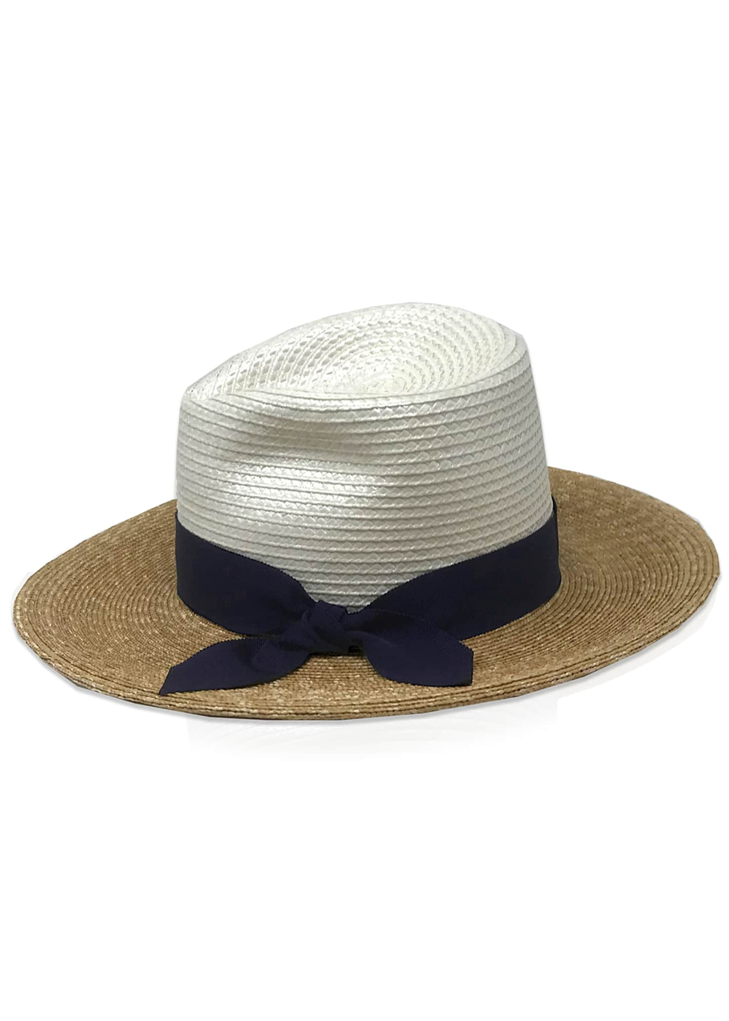 Image 2 of 3: Drake Tricolor Straw Fedora Hat