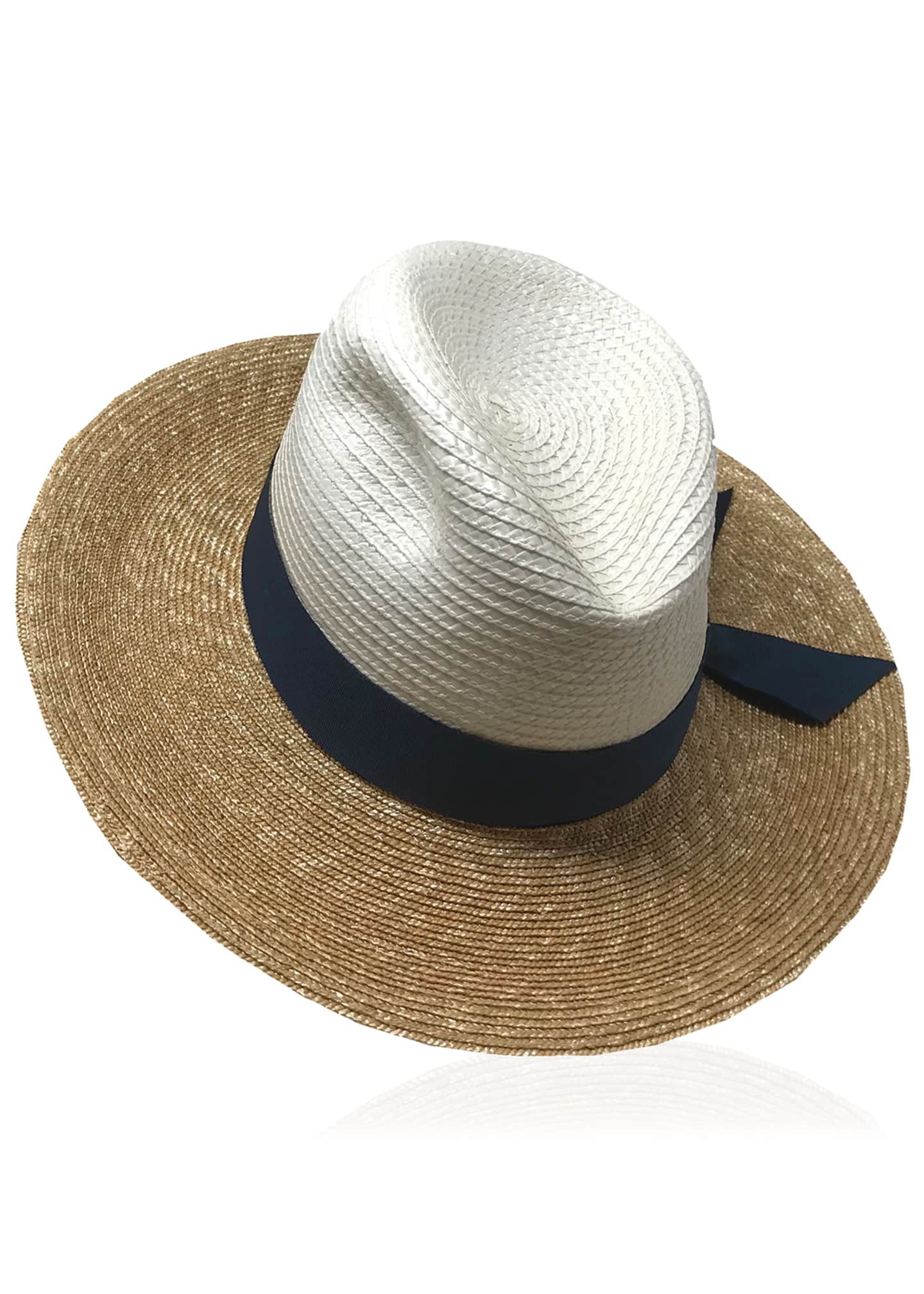 Image 3 of 3: Drake Tricolor Straw Fedora Hat