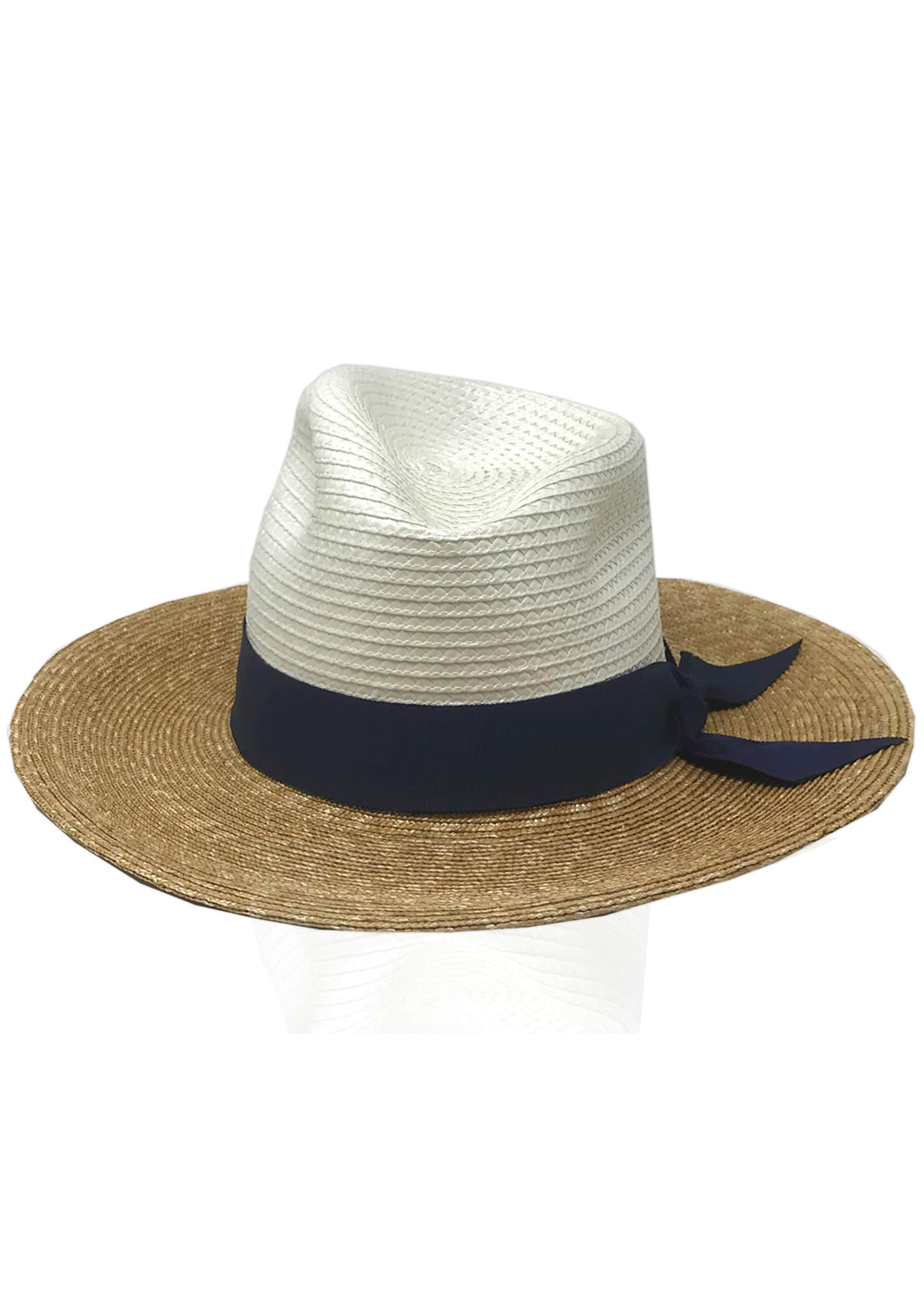 Image 1 of 3: Drake Tricolor Straw Fedora Hat
