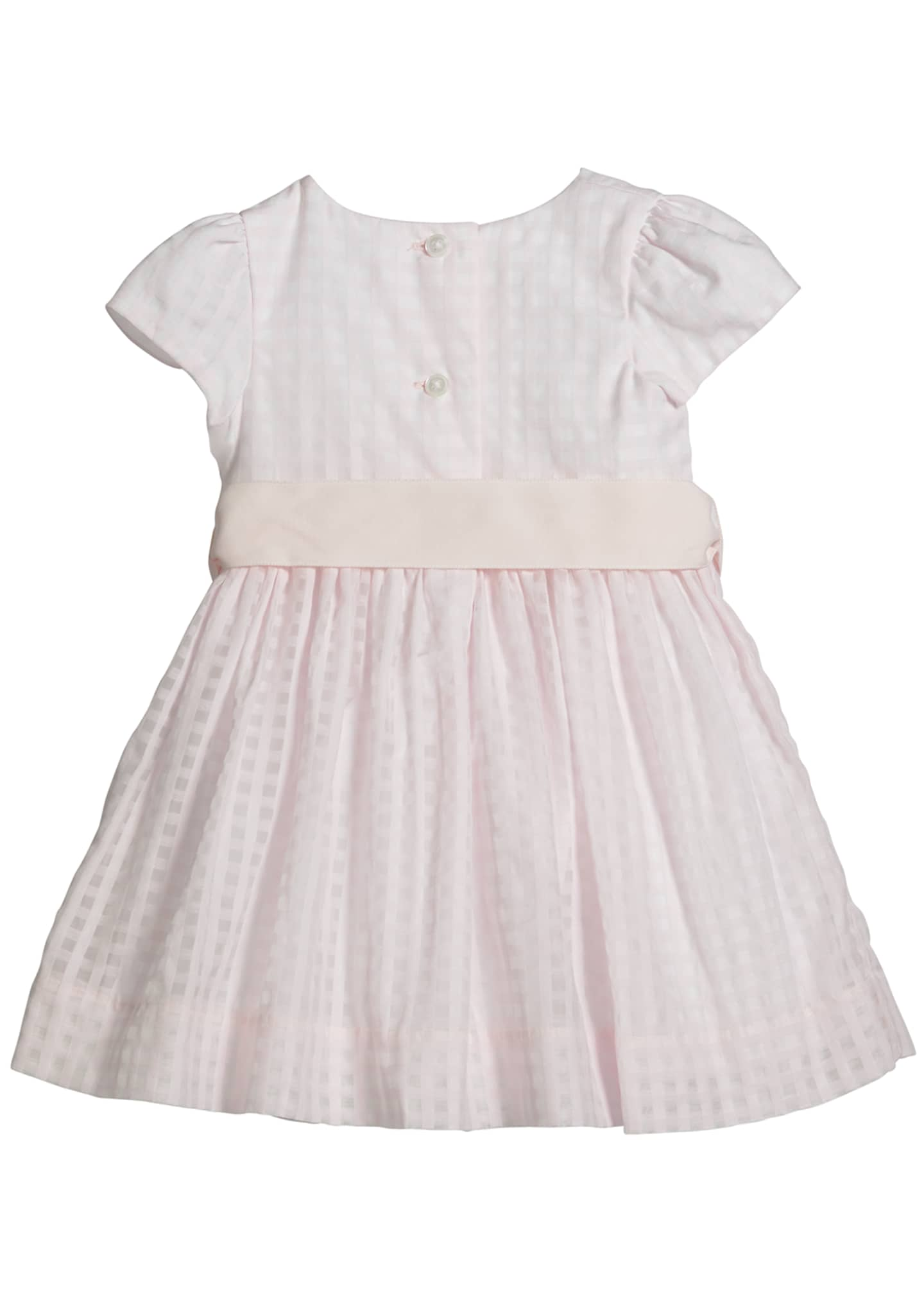 Image 2 of 2: Girl's Windowpane Check Dress w/ Bloomers, Size 6-24 Months