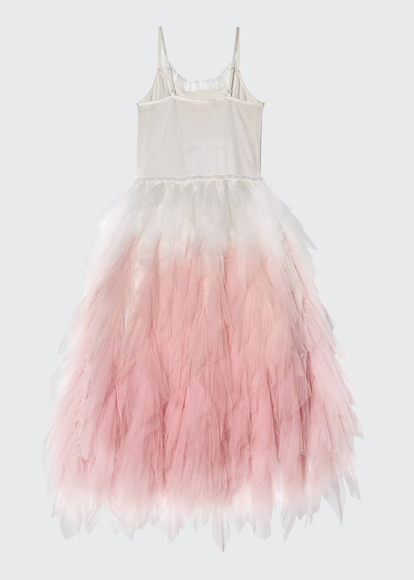 Image 3 of 3: Girl's Wild Rose Long Ombre Tulle Dress, Size 2-11