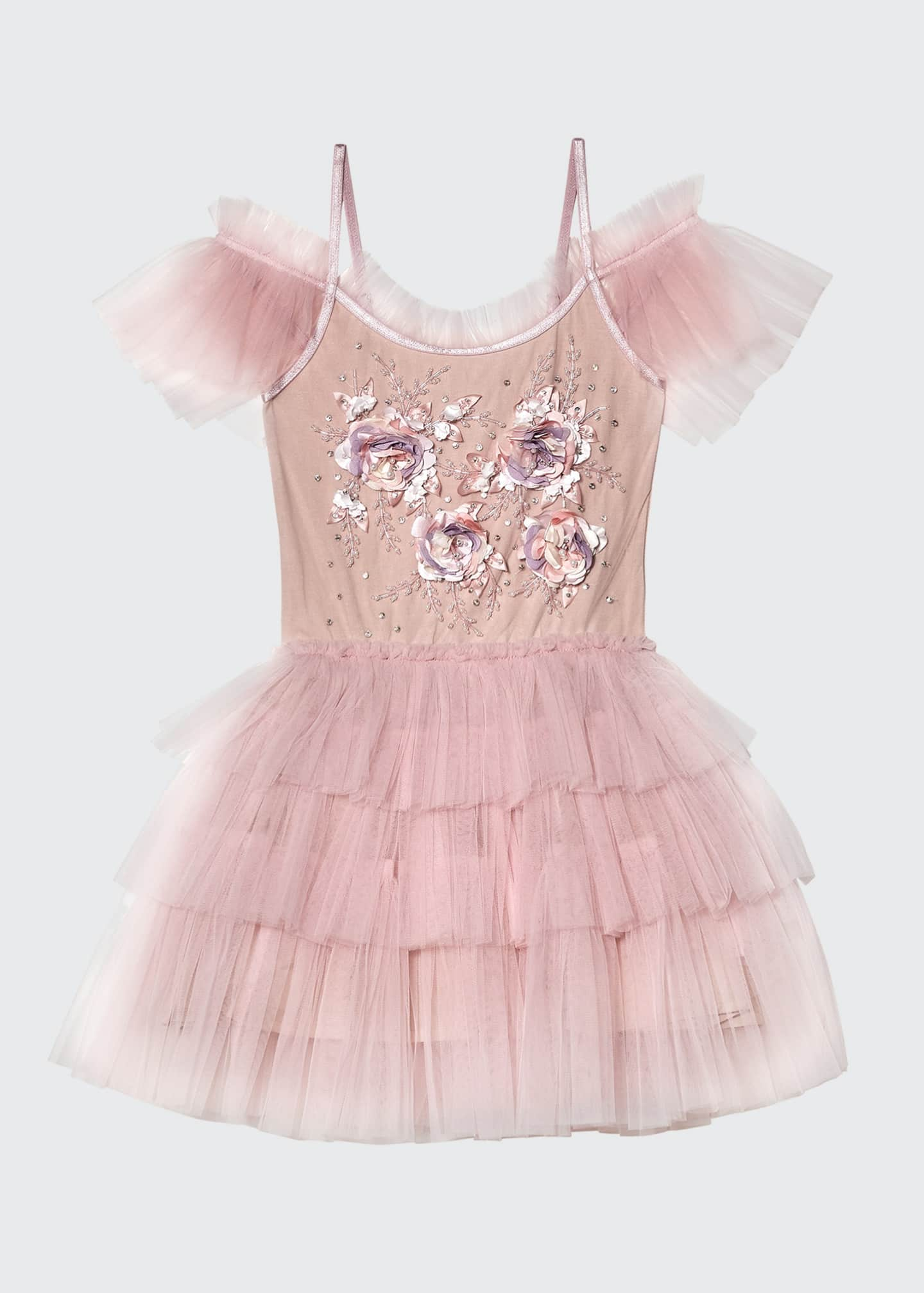 Image 1 of 3: Girl's Gypsy Sequin Ruffle Tutu Dress, Size 2-11