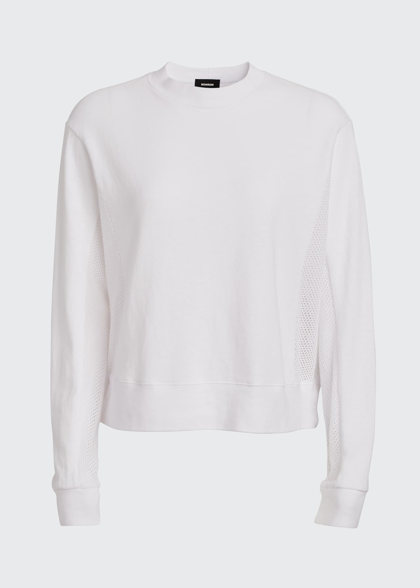 Image 5 of 5: Long-Sleeve Crewneck Sweatshirt with Mesh Back