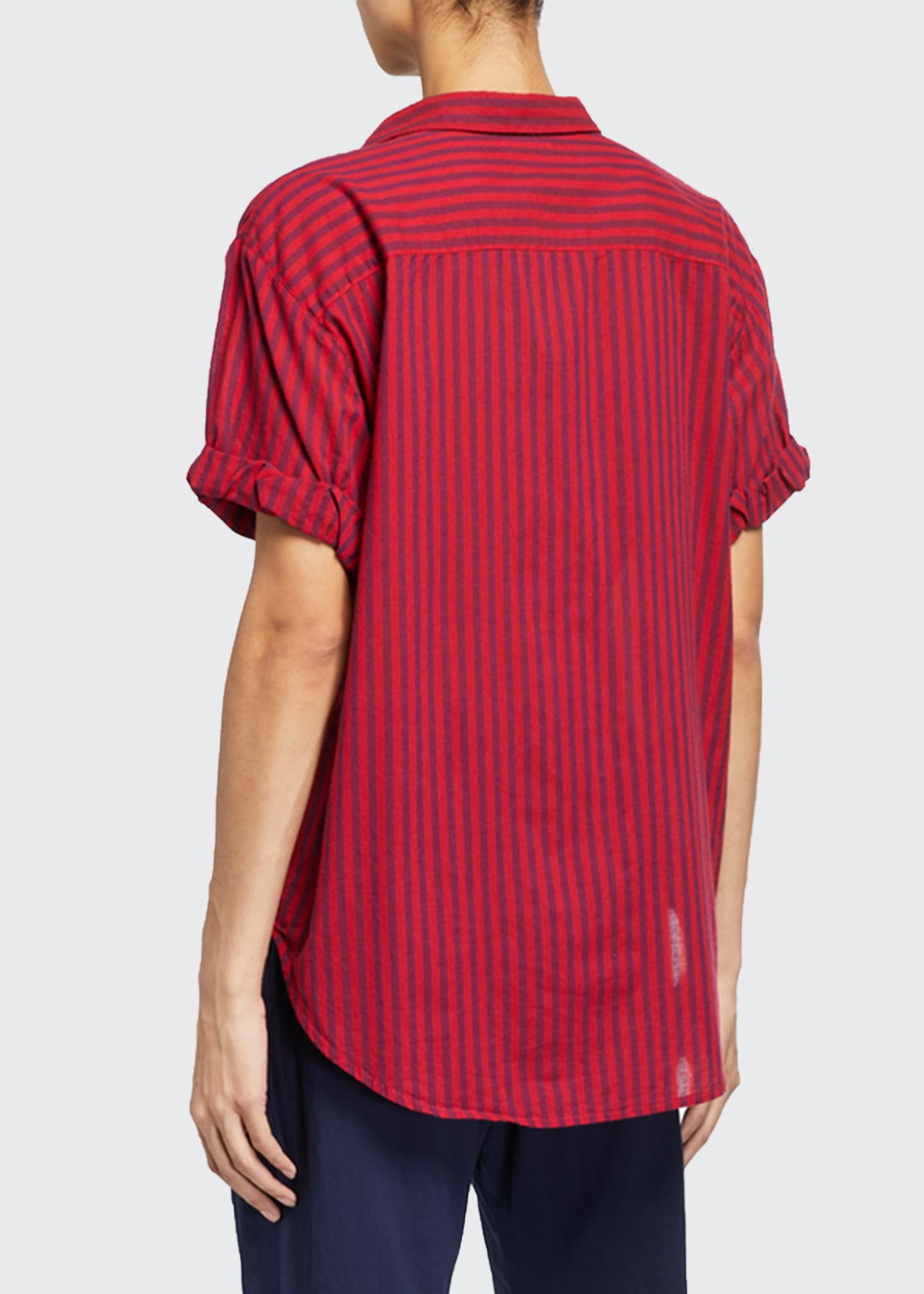 Image 2 of 2: Channing Stripe Lounge Shirt