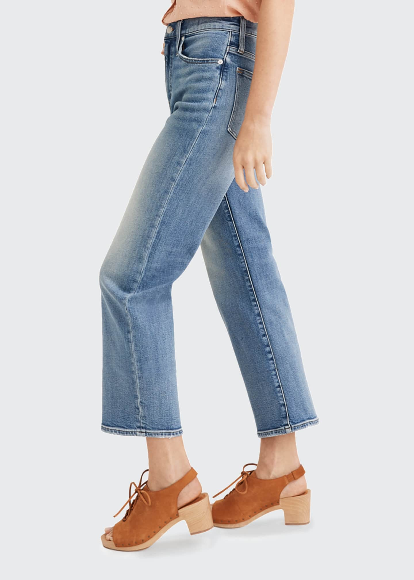 Image 2 of 2: High-Rise Slim Wide Leg Jeans