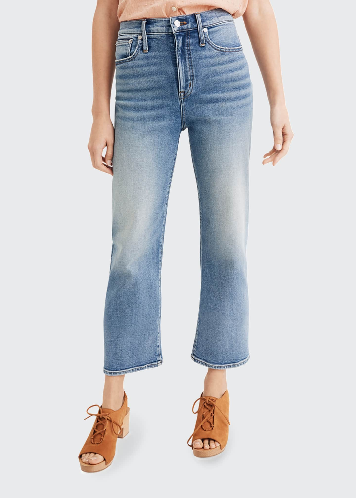Image 1 of 2: High-Rise Slim Wide Leg Jeans