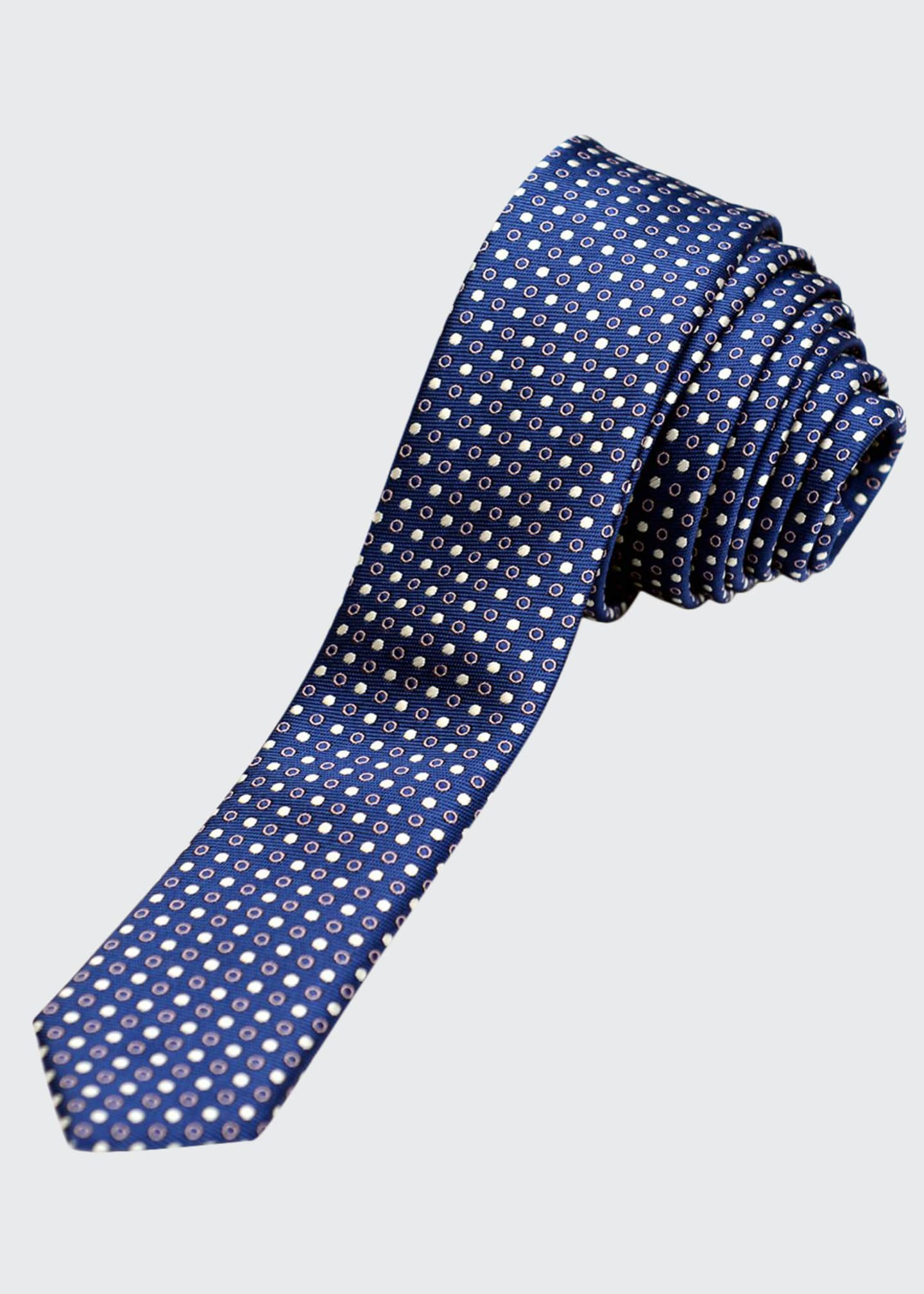 Image 1 of 1: Boys' Dot Twill Tie