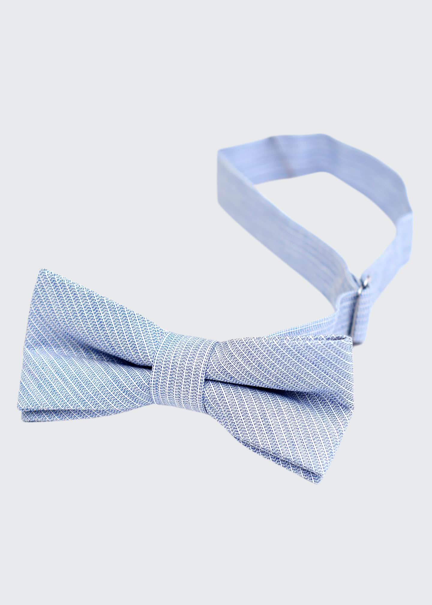 Image 1 of 1: Boy's Textured Stripe Bow Tie
