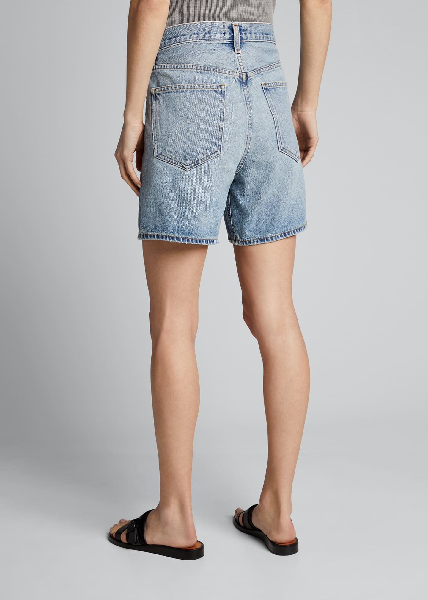 Image 2 of 4: Crisscross Denim Shorts