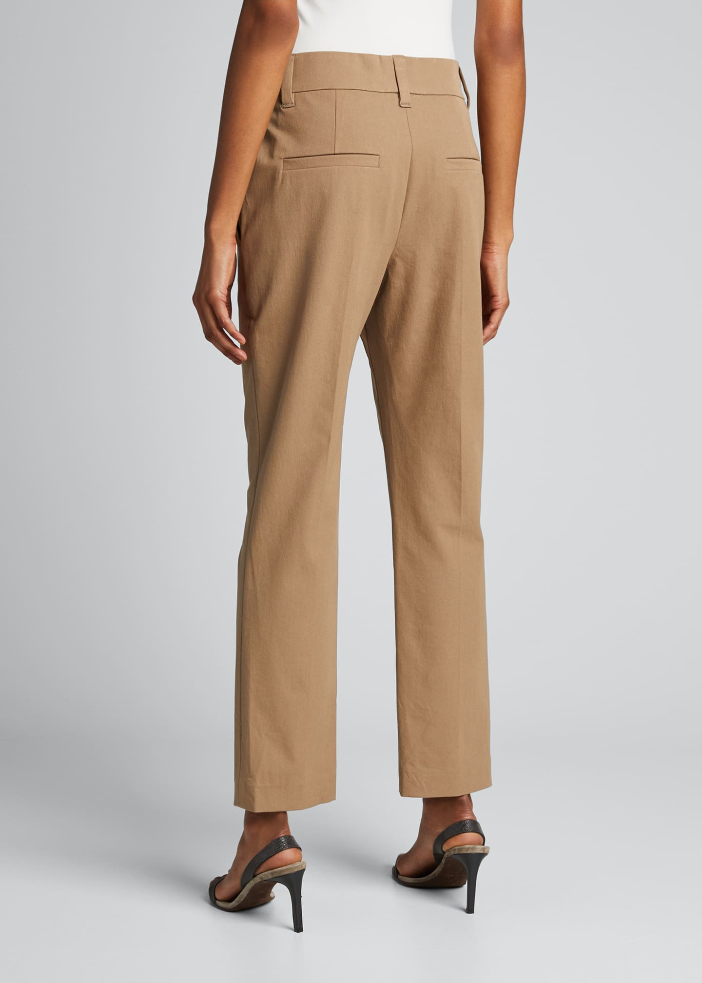 Image 2 of 5: Cotton Straight-Leg Crop Pants