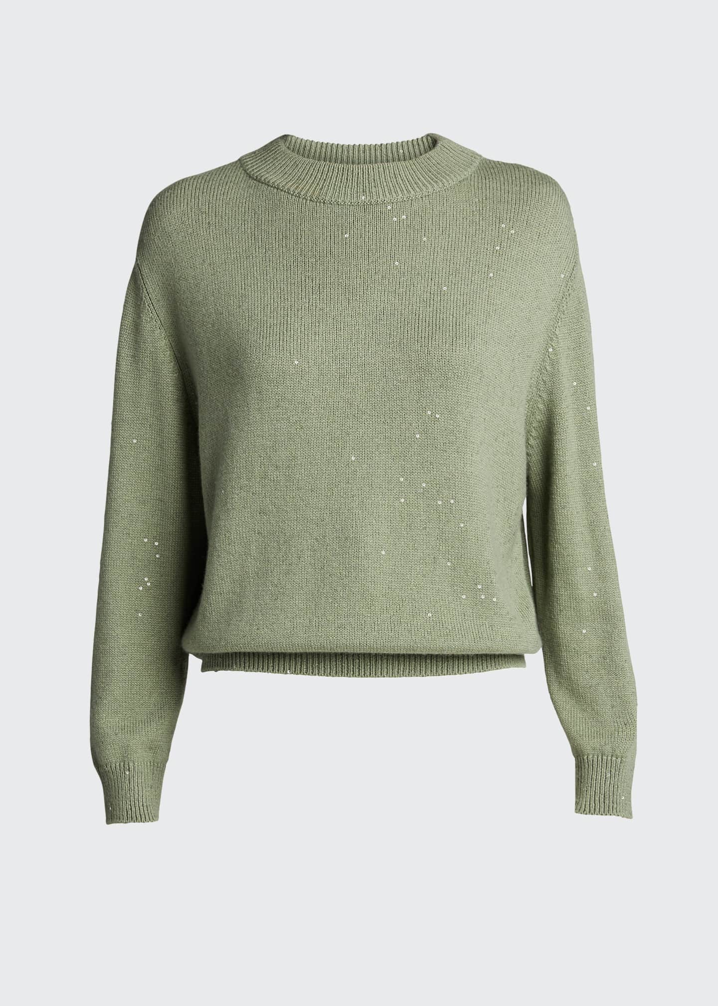 Image 5 of 5: Cashmere Silk Mock-Neck Sweater