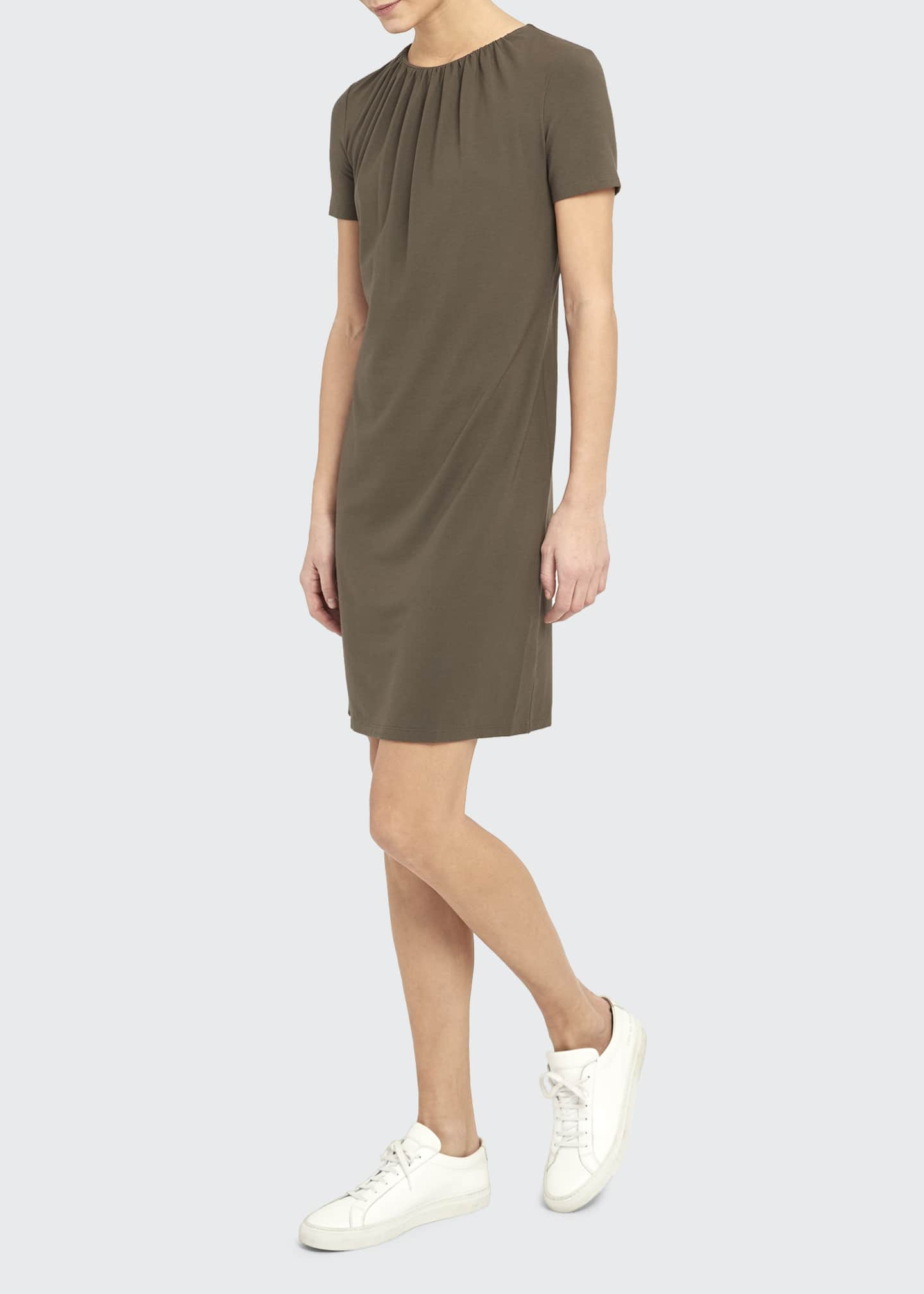 Image 1 of 2: Gather Tee Dress
