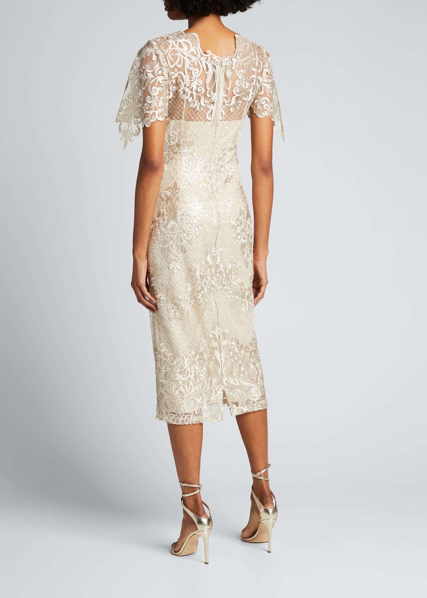 Image 2 of 5: Embroidered Lace Sheath Dress